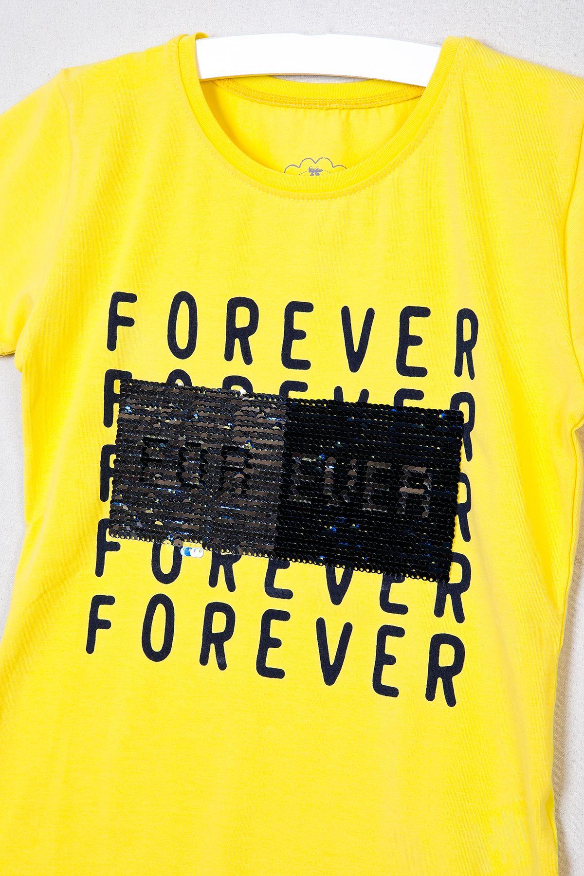 Yazı Baskılı Pullu T-shirt