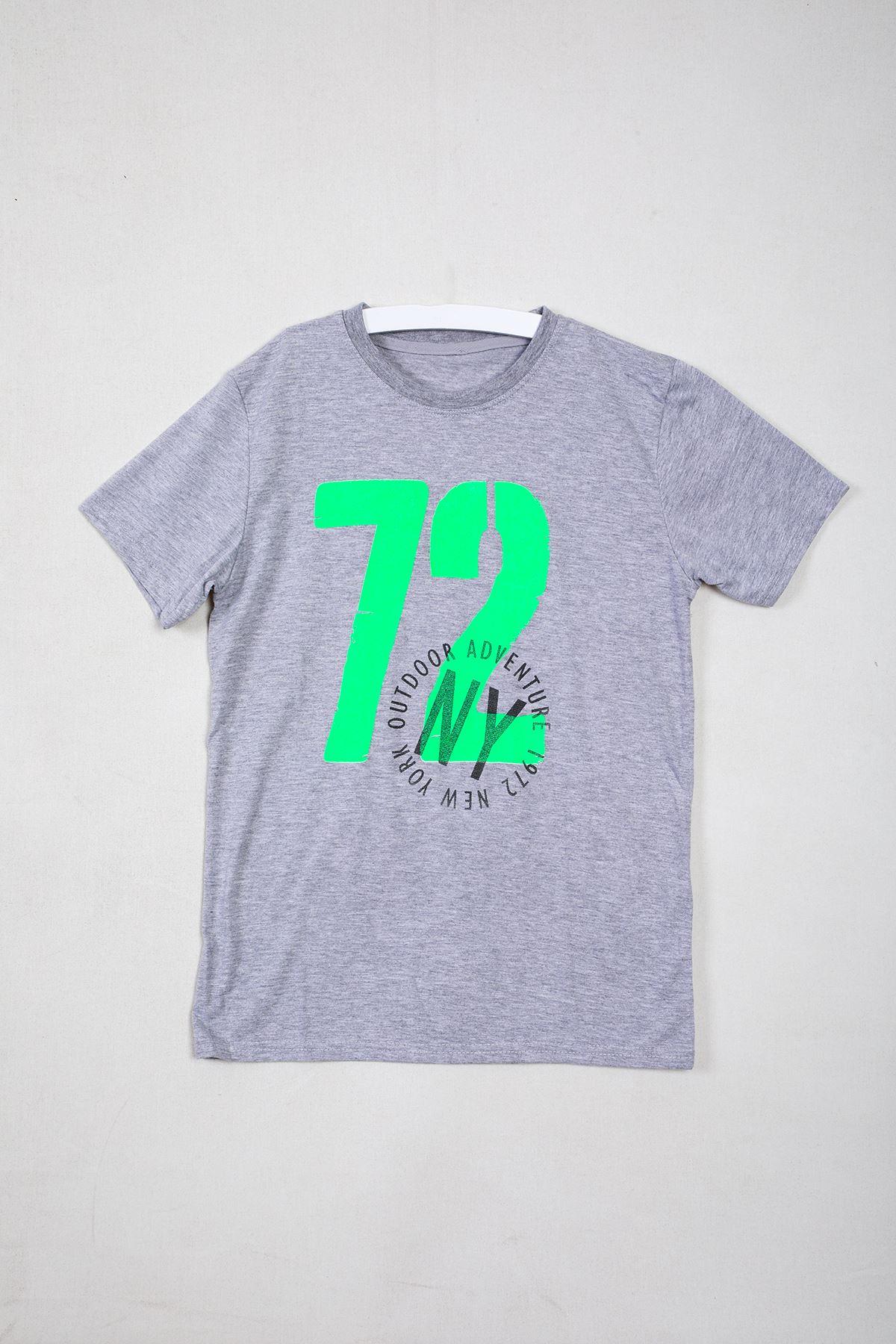72 Baskılı Gri Çocuk T-shirt