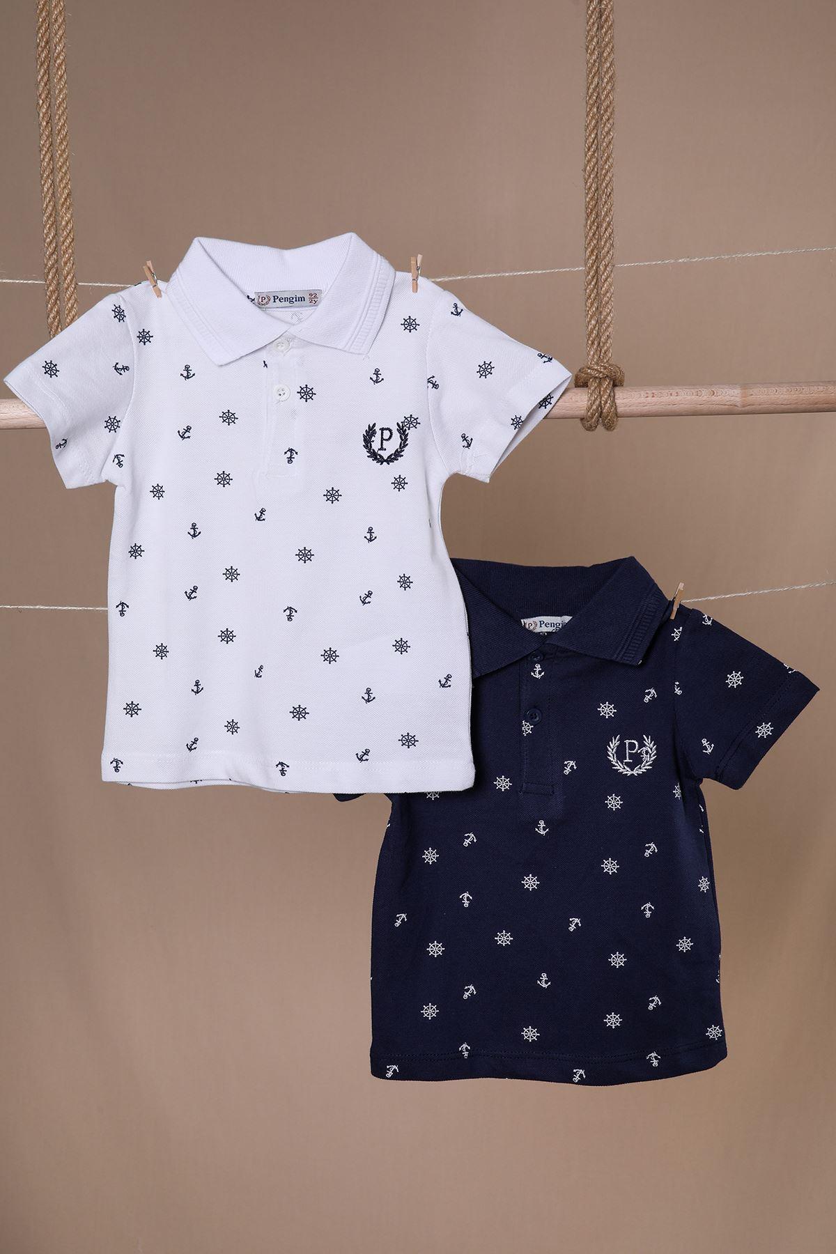 Çapalı Polo Yaka Erkek Çocuk T-shirt