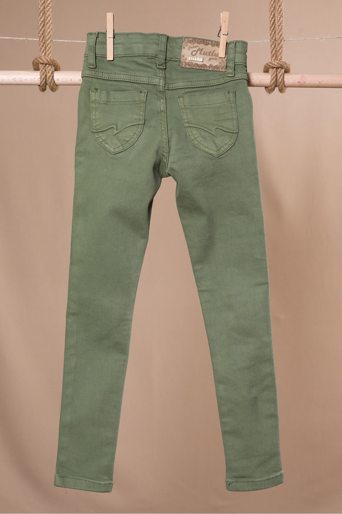 Dizi Yırtık Çocuk Kot Pantolon