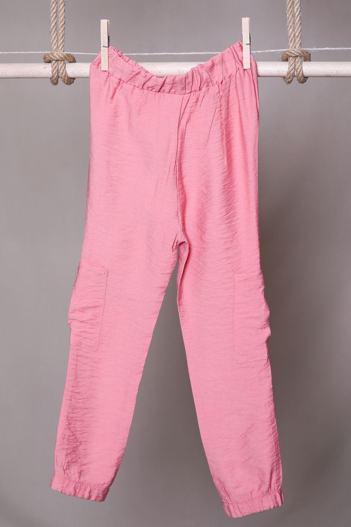 Lastik Paçalı Keten Çocuk Pantalon