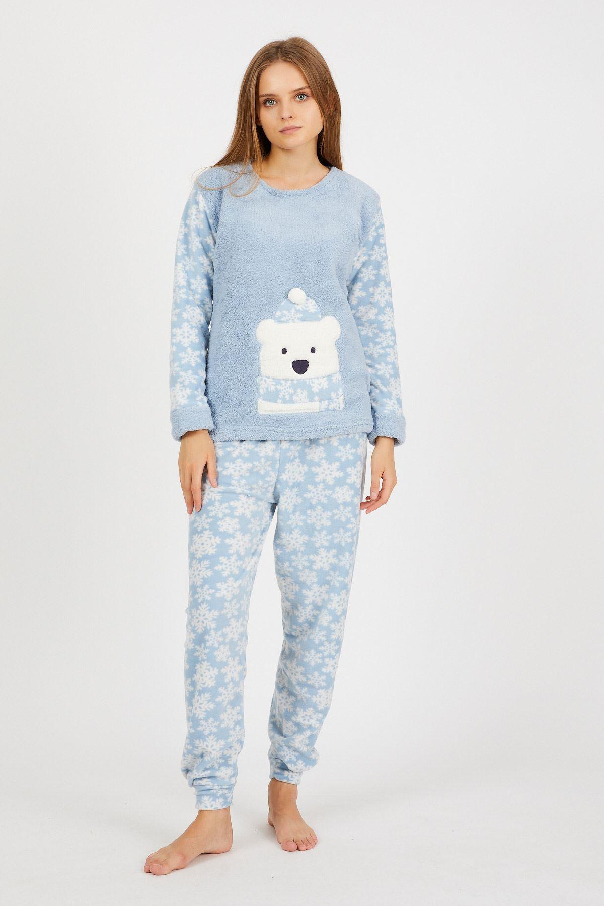 Baskılı Polar Pijama Takımı