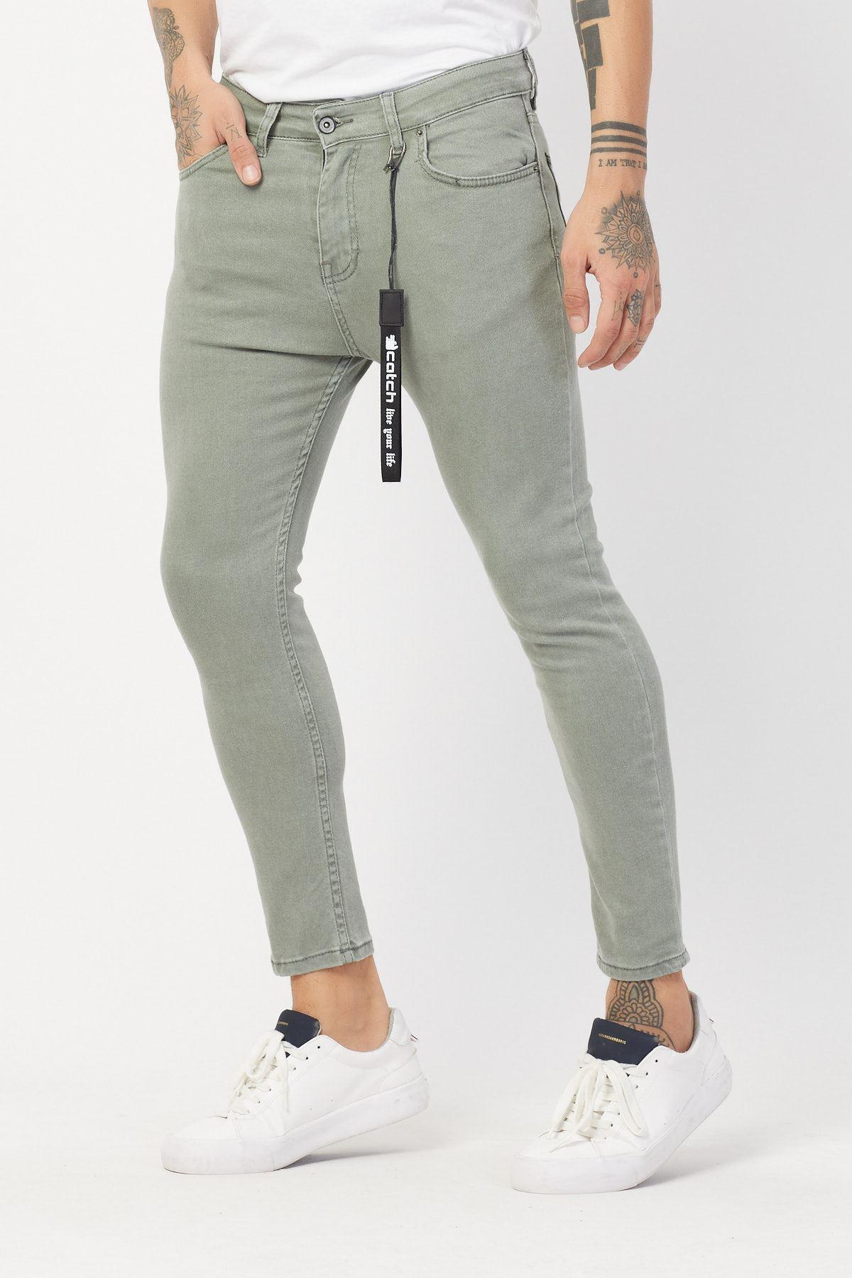 Açık Haki Erkek Kot Pantolon