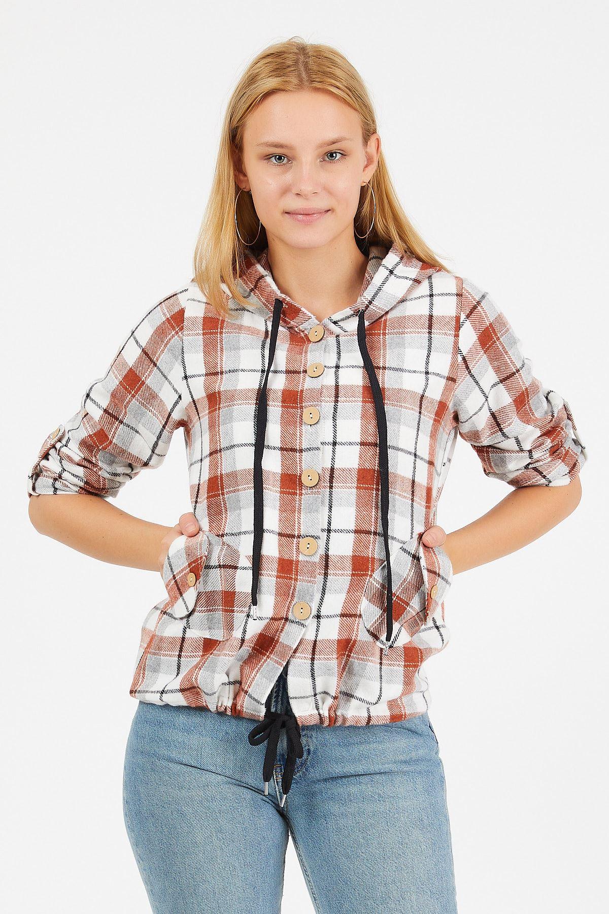 Kapüşonlu Ekose Oduncu Gömlek