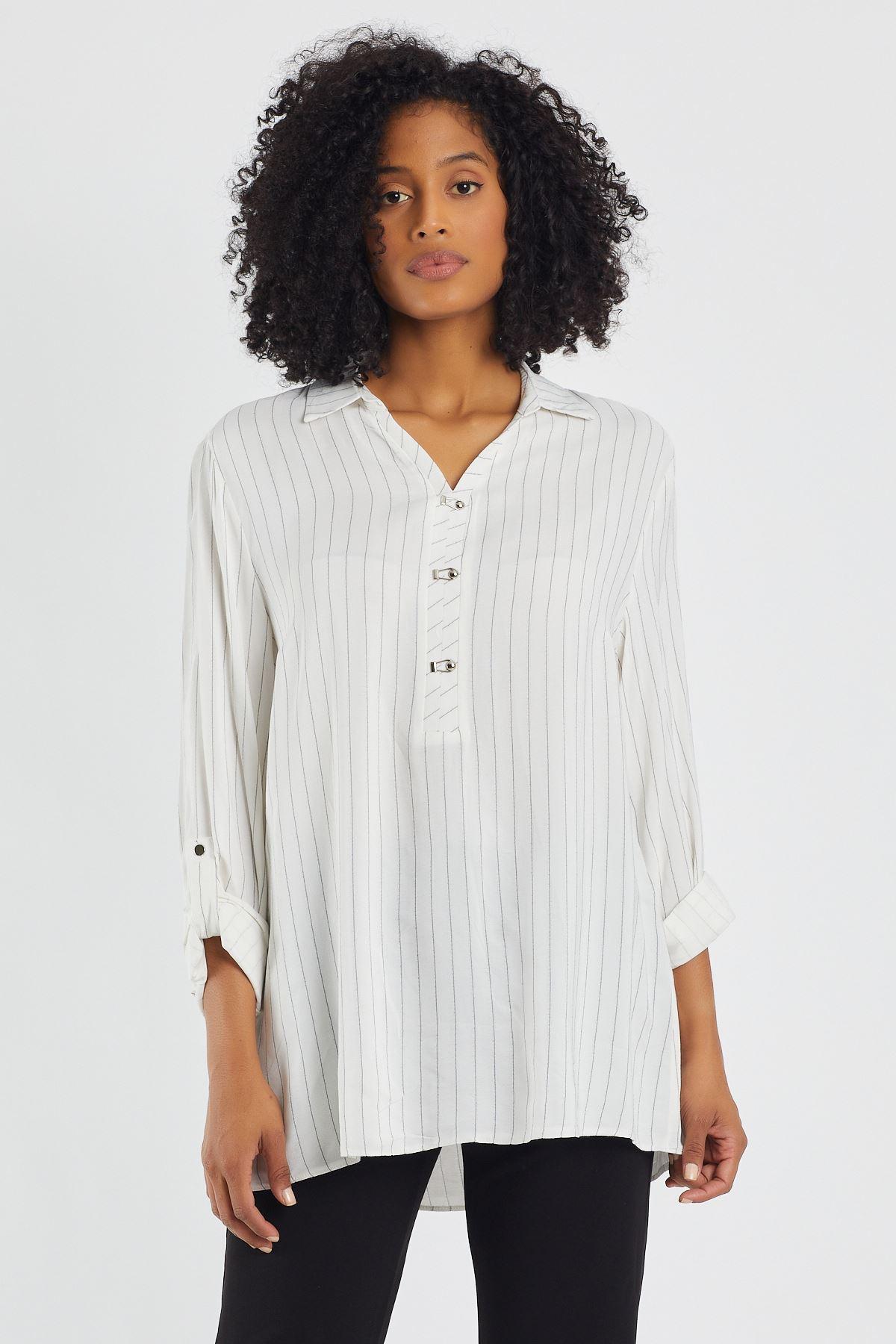 Çizgili Tunik Gömlek