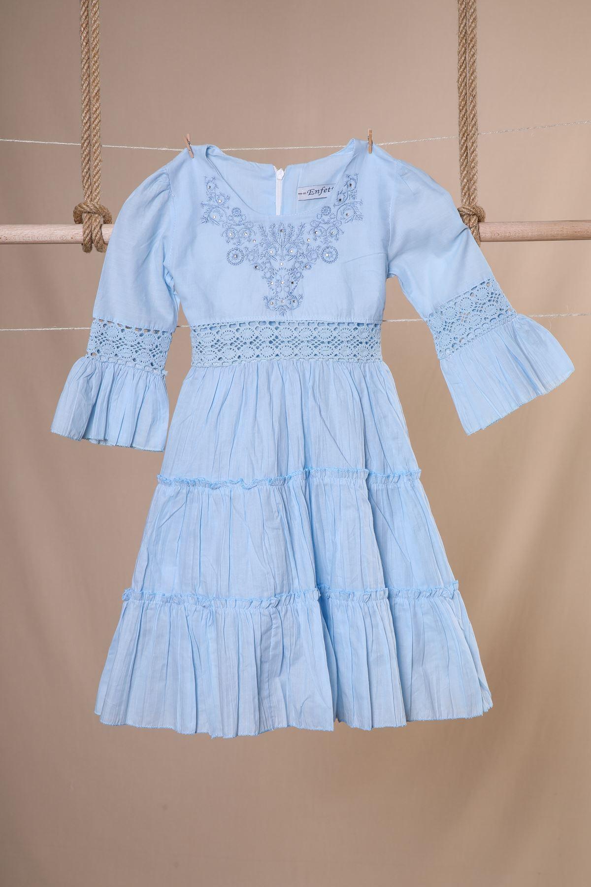 Fakir Kol Nakışlı Elbise