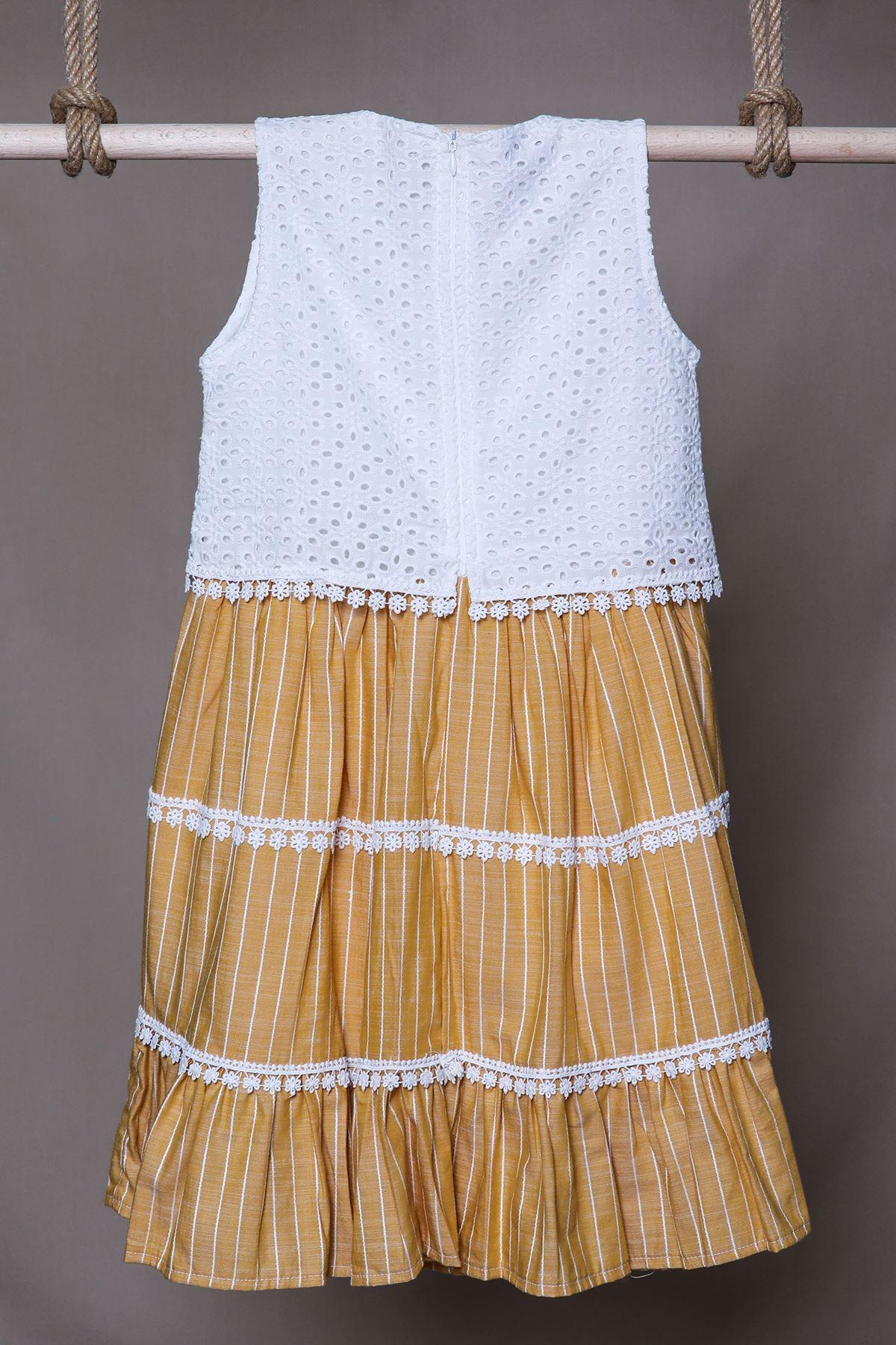 Fistolu Kloş Çocuk Elbise