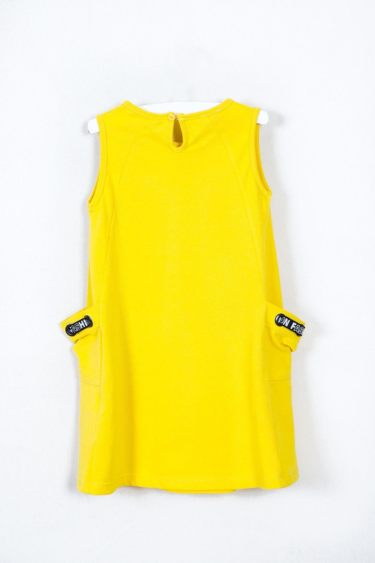 Fashion Kız Çocuk Sarı Elbise