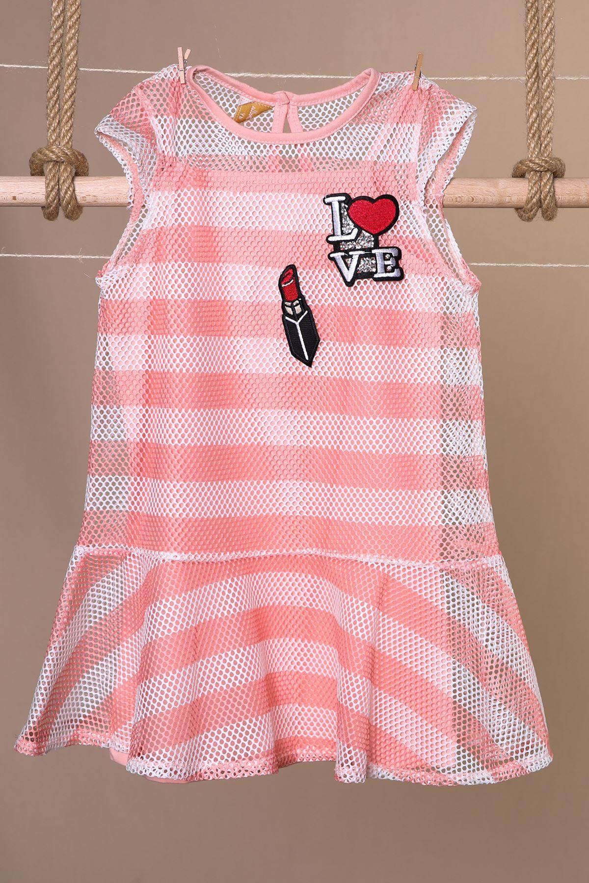 Fileli Kız Çocuk Elbise