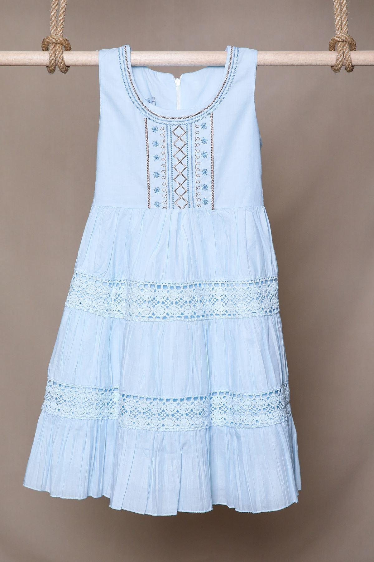 Nakışlı Çocuk Elbise