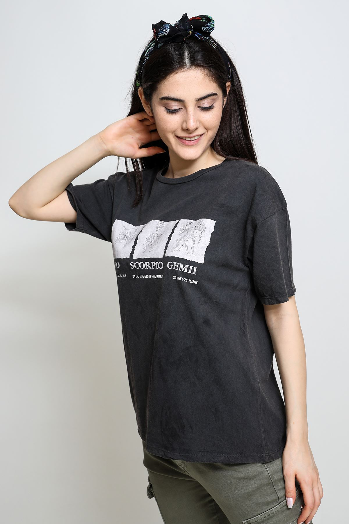 Burç Baskılı T-shirt