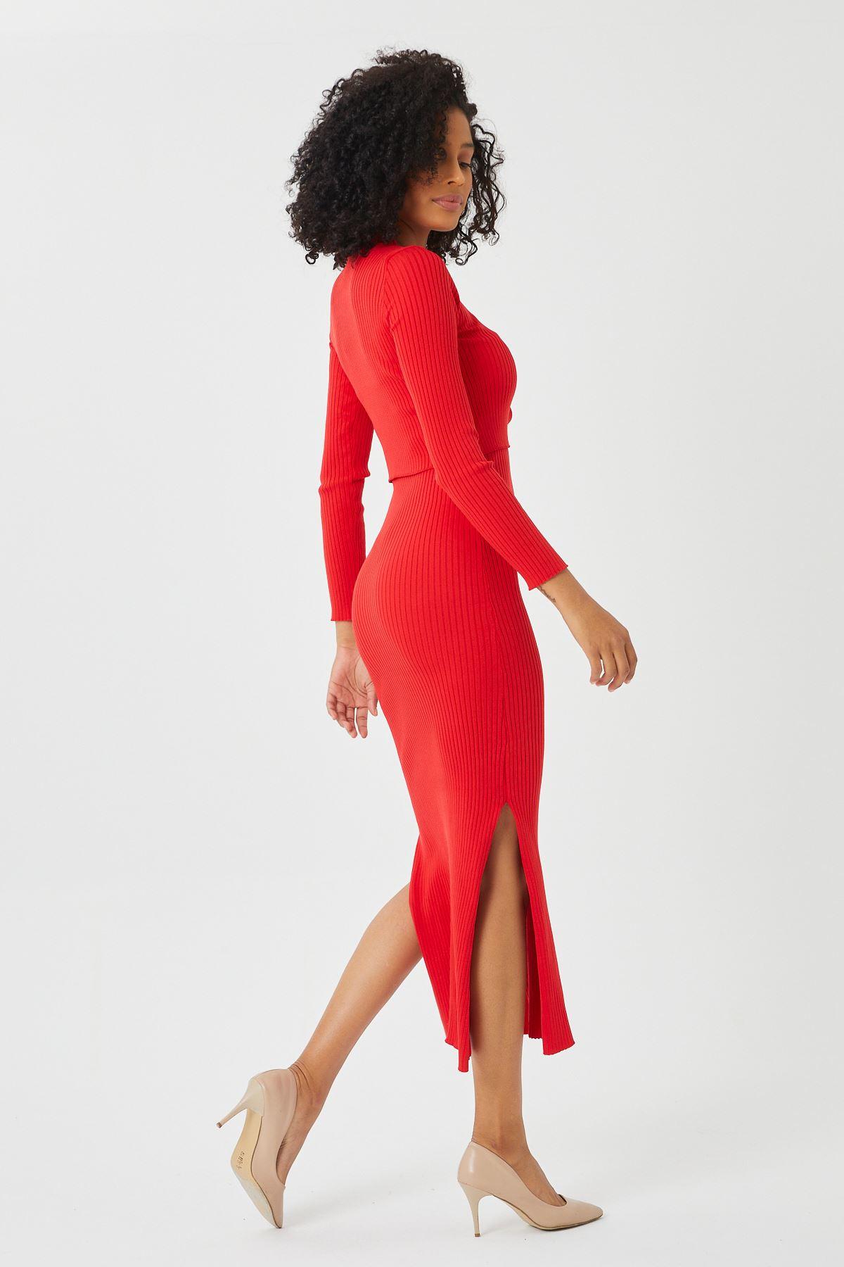 Hırkalı Triko Elbise