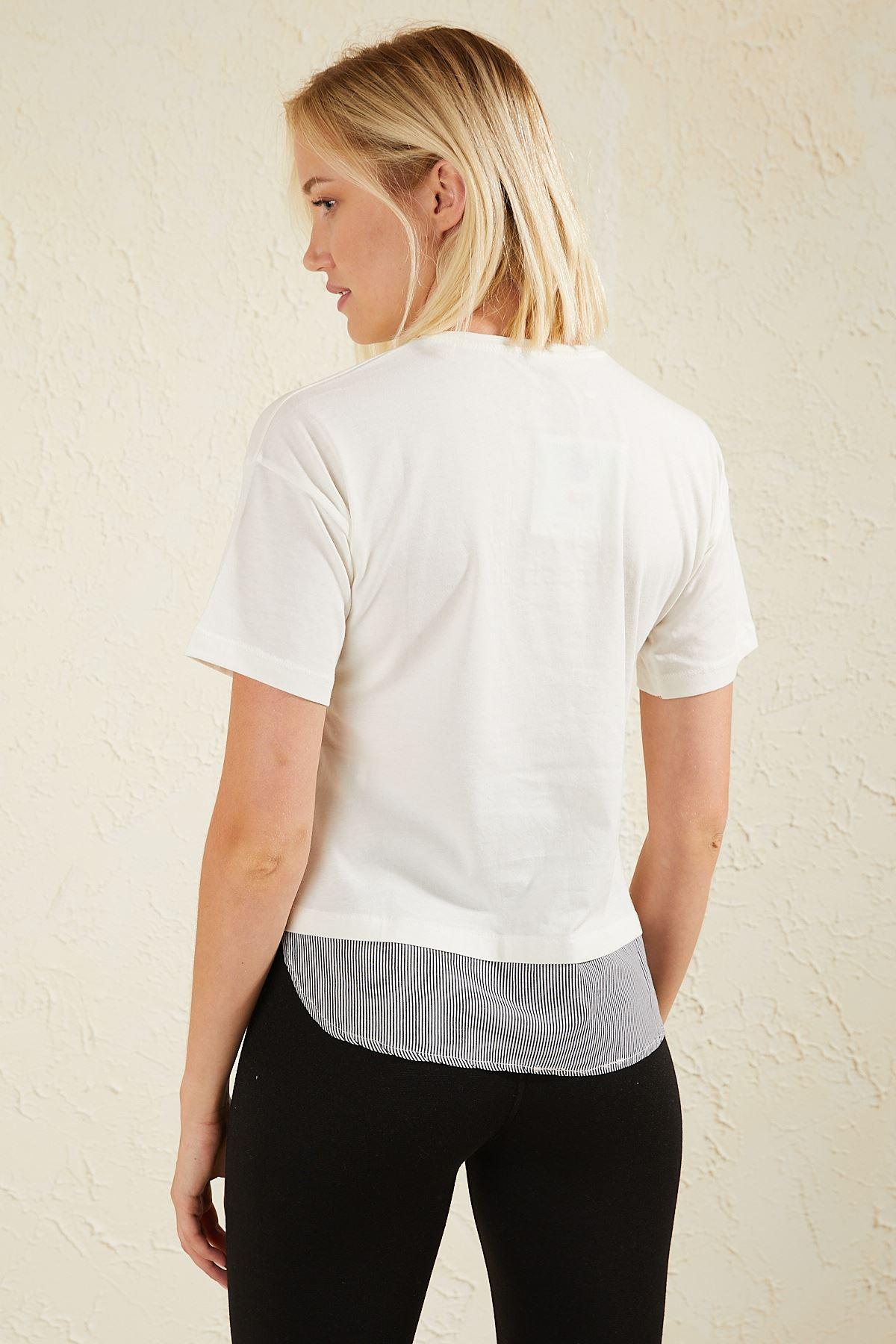 Dantel Detaylı Kadın T-shirt