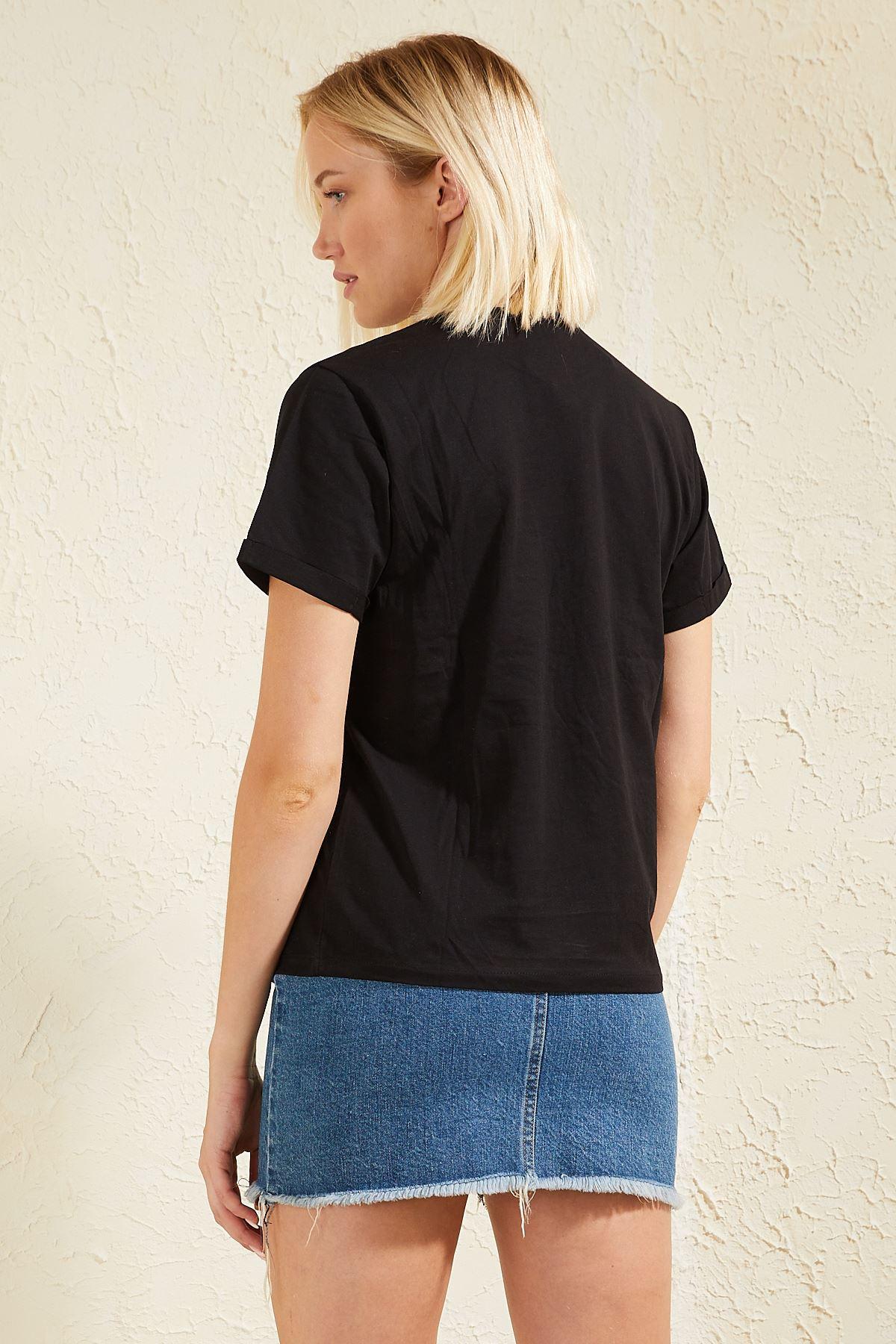 Flamingo Baskılı Kadın T-shirt