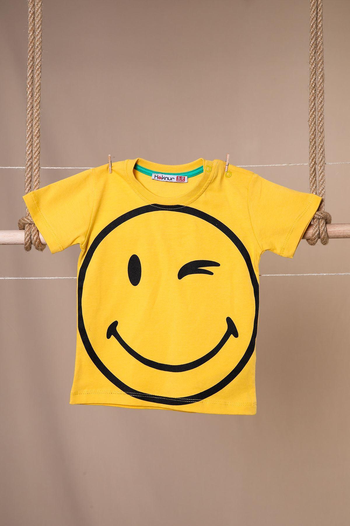Gülücük Baskılı T-shirt