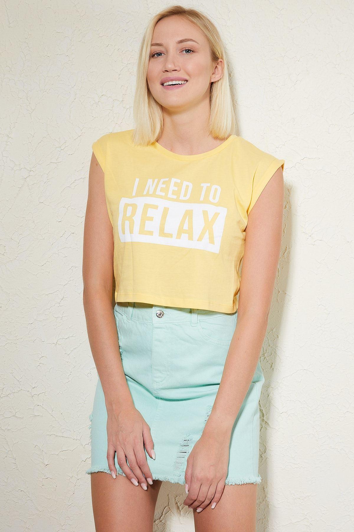 Relax Baskılı T-shirt