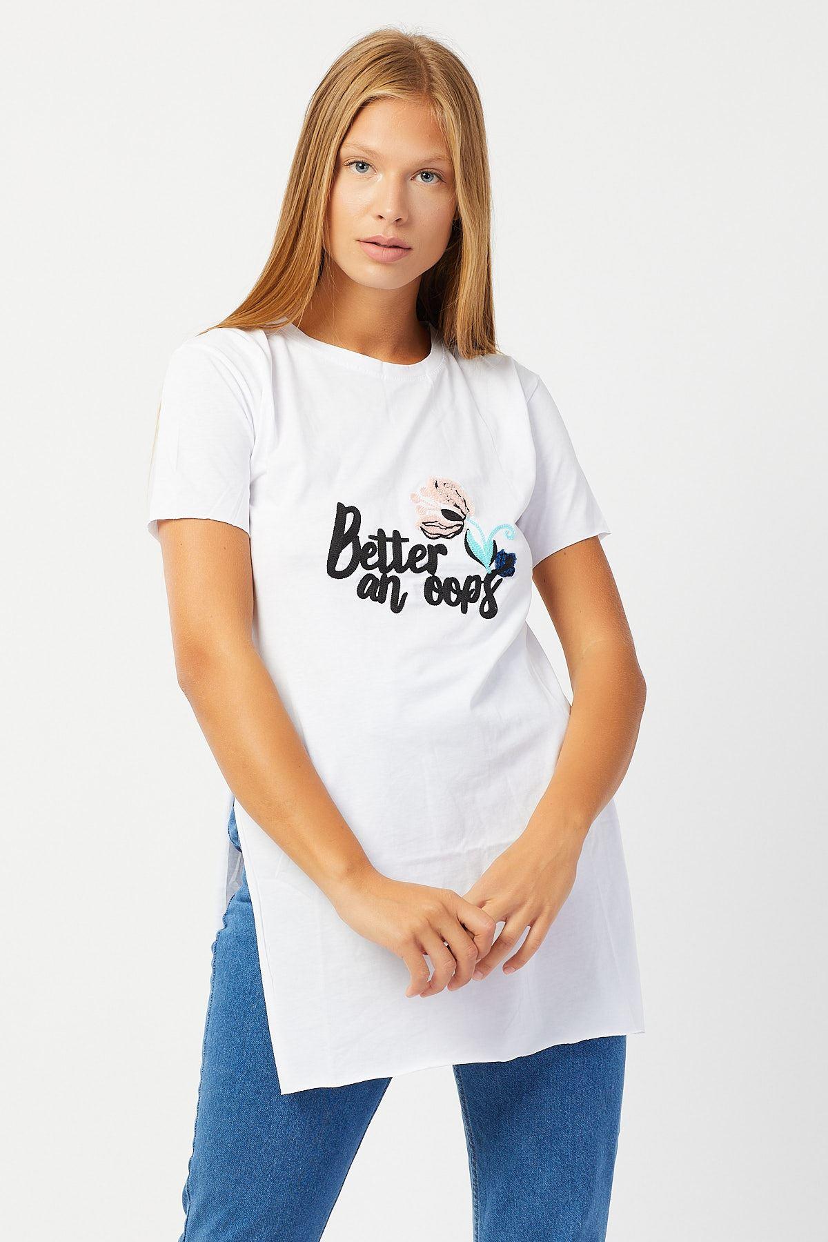 Nakışlı T-shirt