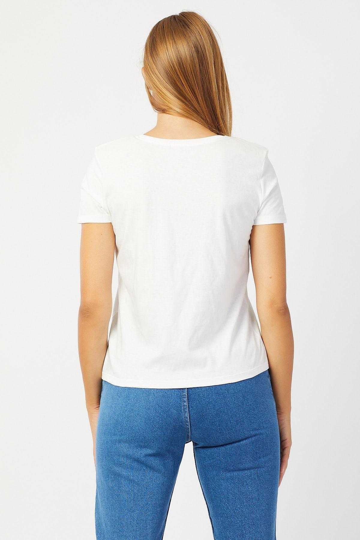 Vatkalı V Yaka T-Shirt