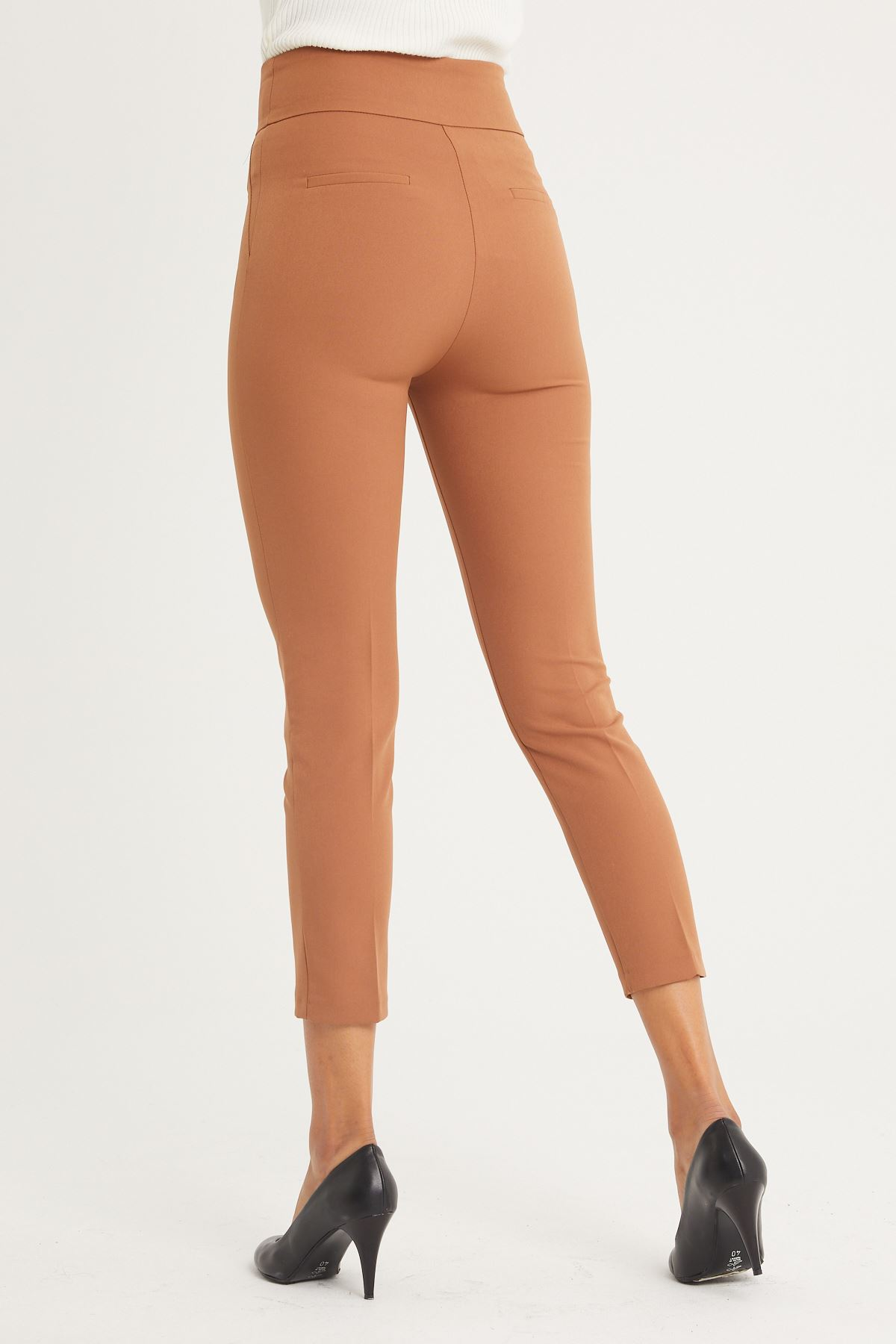 Yüksek Bel Kumaş Pantolon