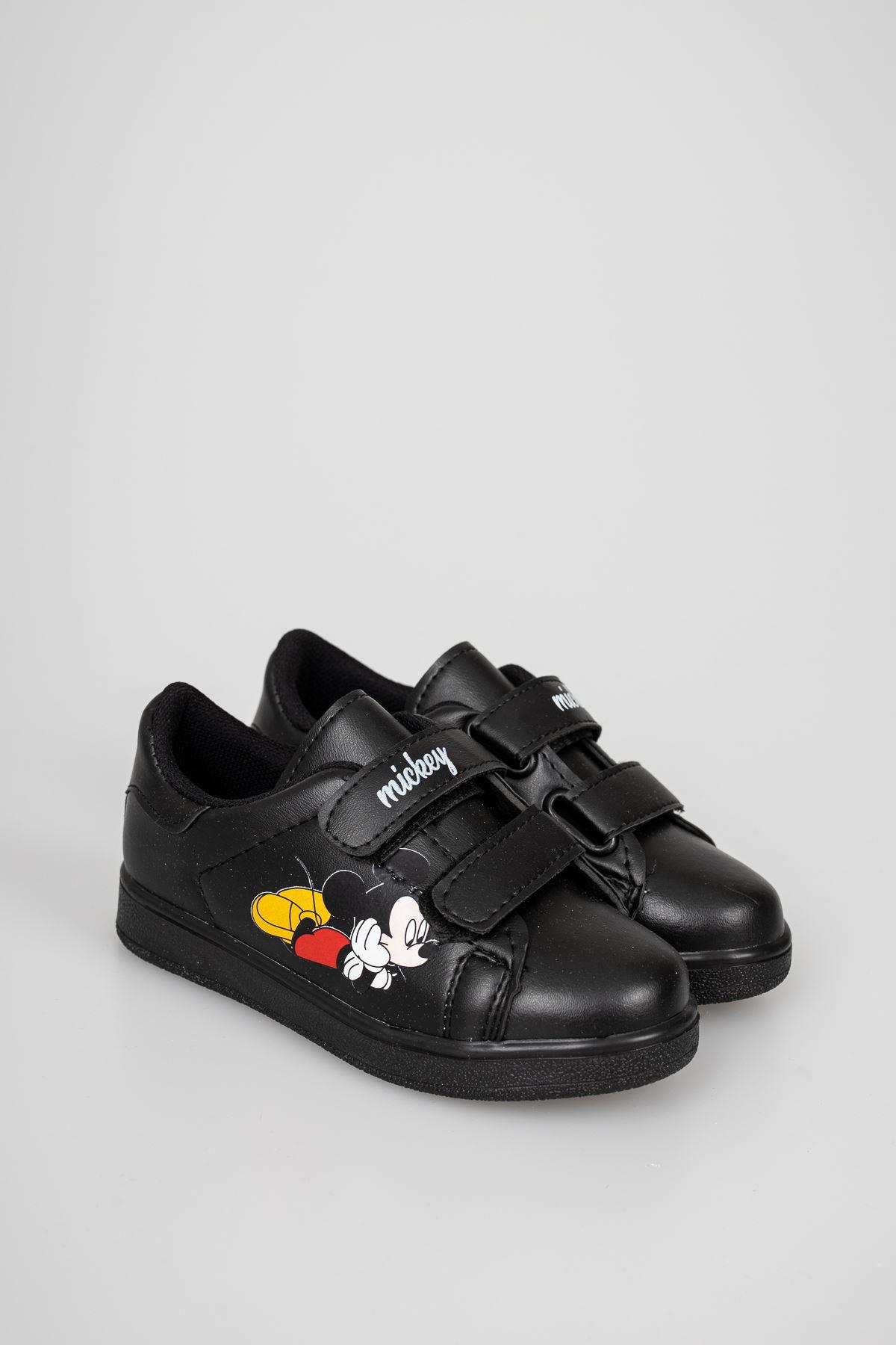 Baskılı Siyah Çocuk Ayakkabı