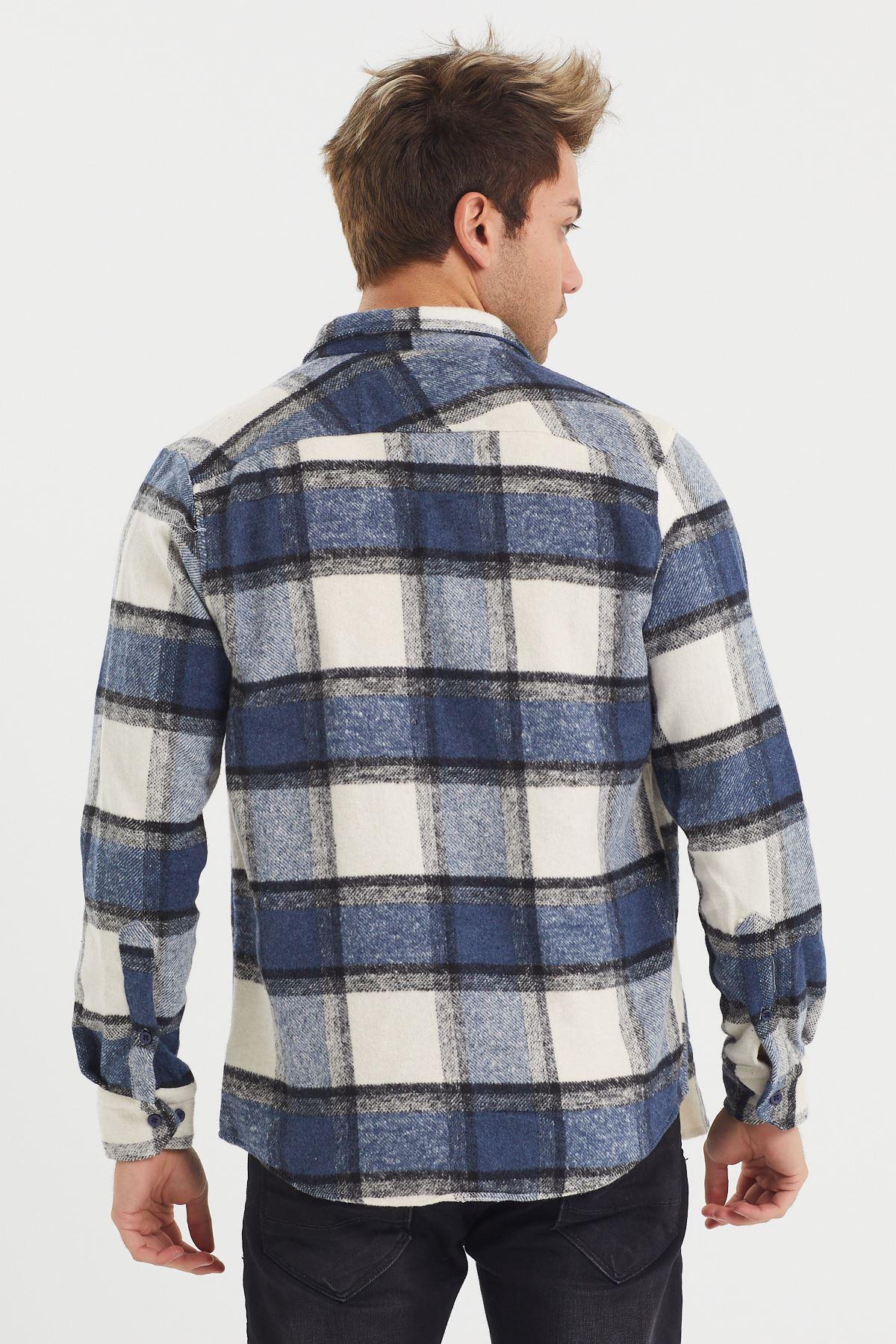 Düğmeli Oduncu Gömlek