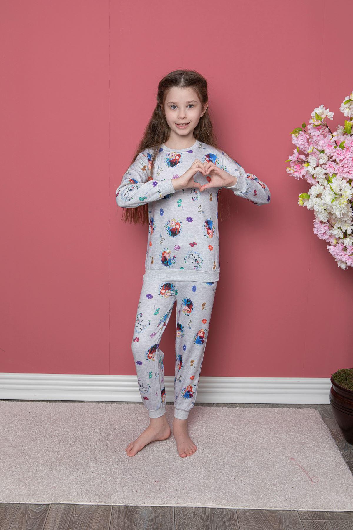 Elsa Kız  Baskılı Pijama Takım