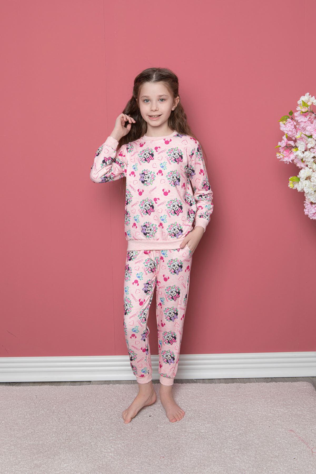 Miki Minnie Baskılı Pijama Takım