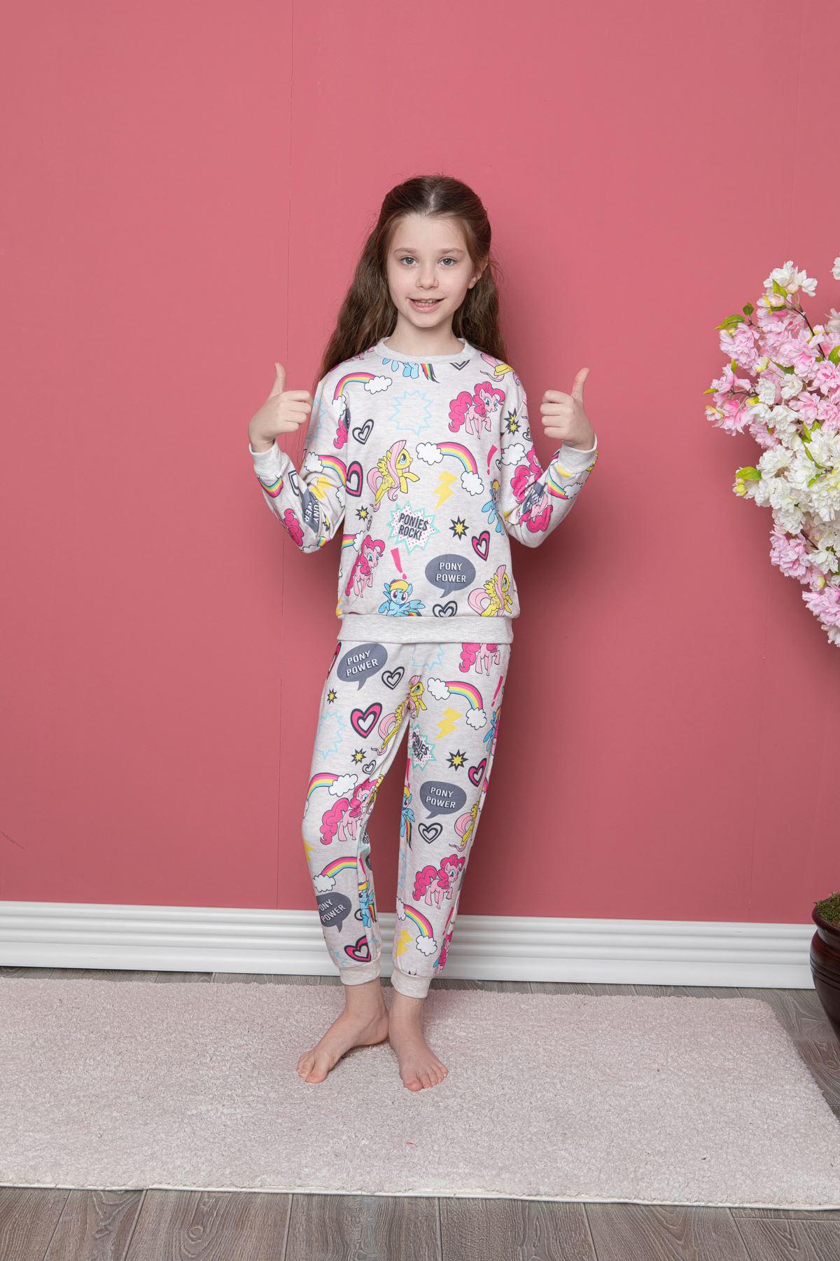 Unicorn Baskılı Pijama Takı