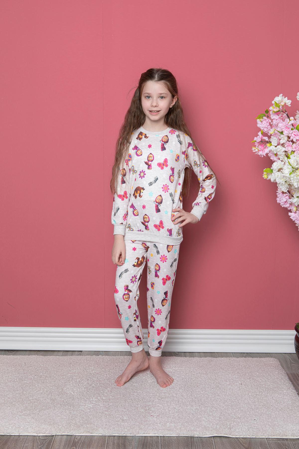 Maşa Baskılı Pijama Takım