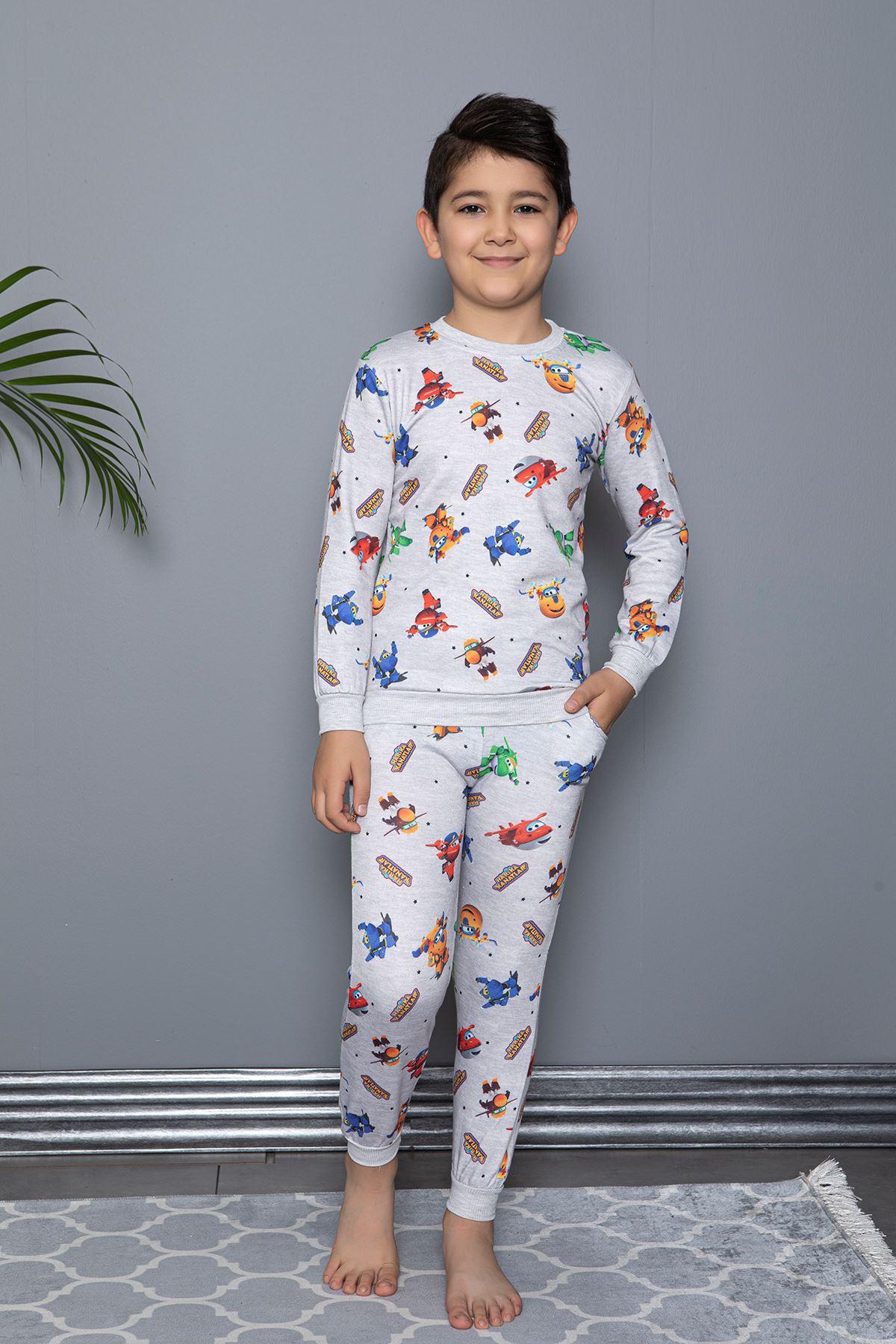Harika Kanatlar Baskılı Pijama Takım