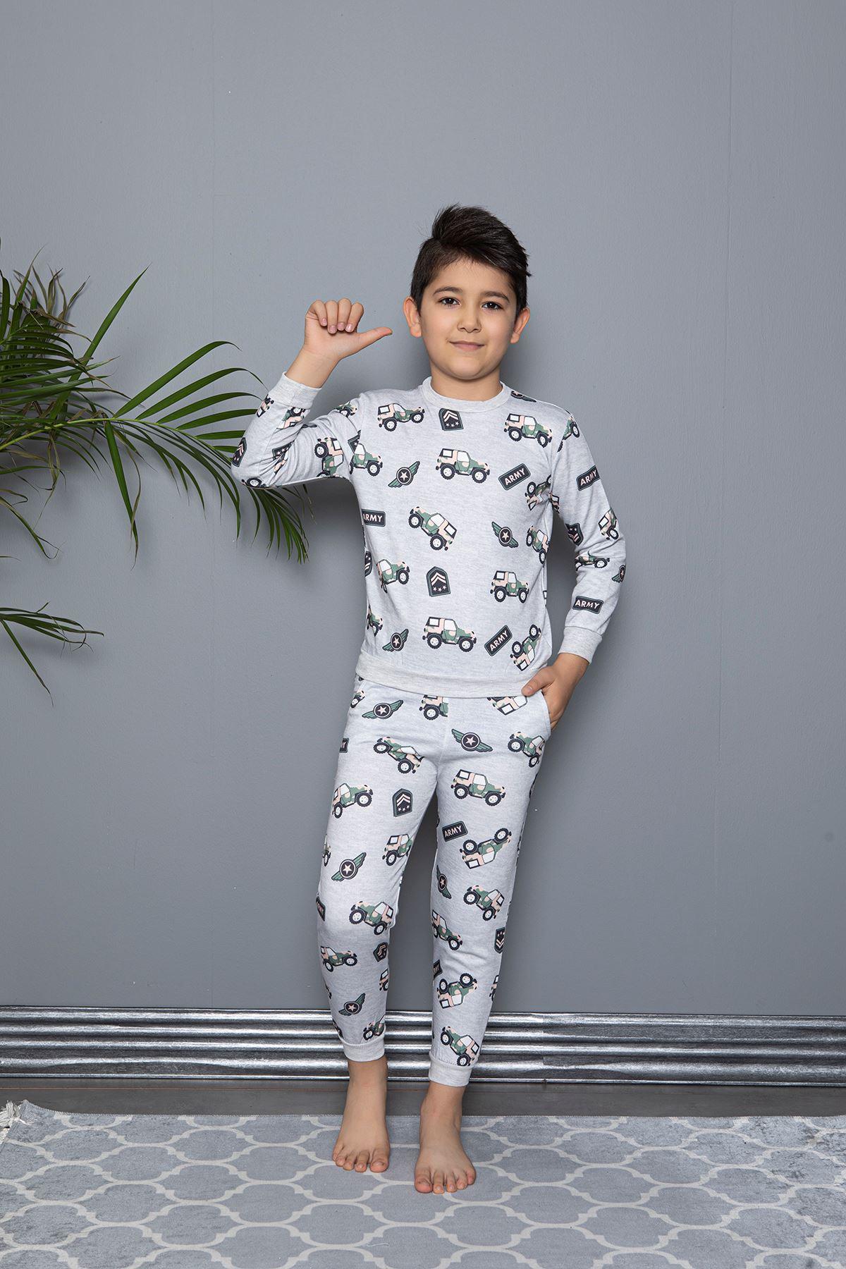 Army Solder Baskılı Pijama Takım