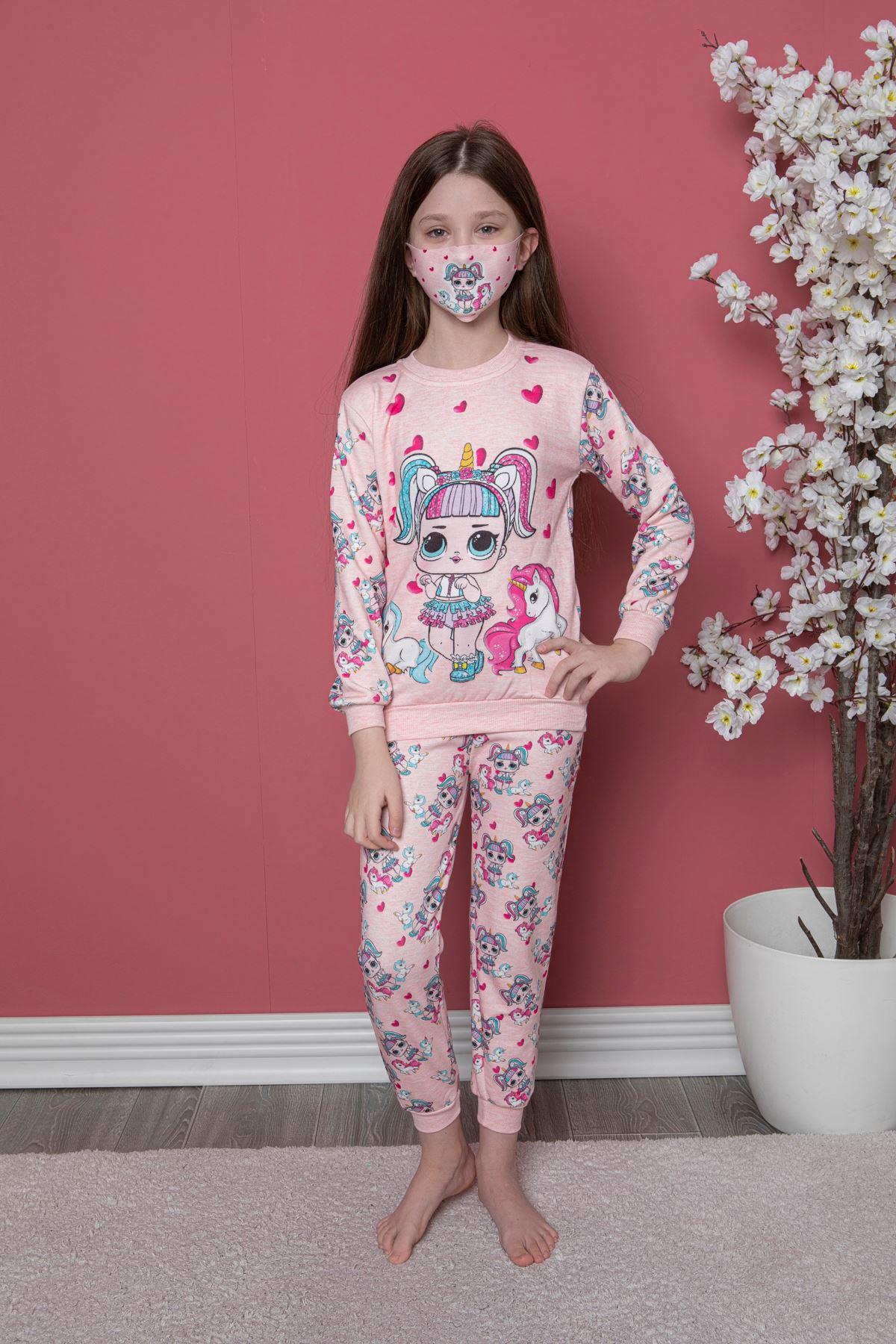 Kız Baskılı Pijama Takım