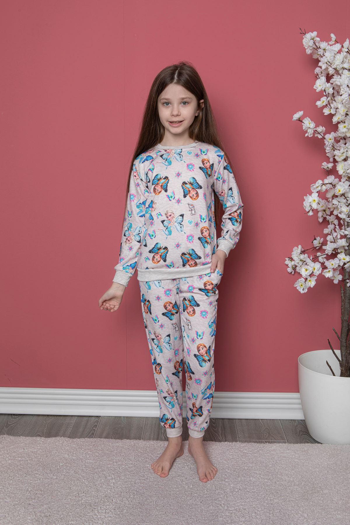 Frozen Baskılı Pijama Takım
