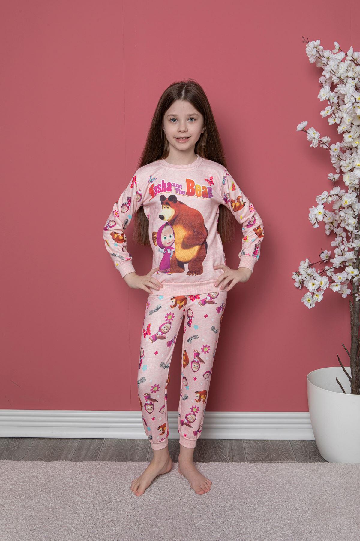 Maşa Koca Ayı Baskılı Pijama Takım
