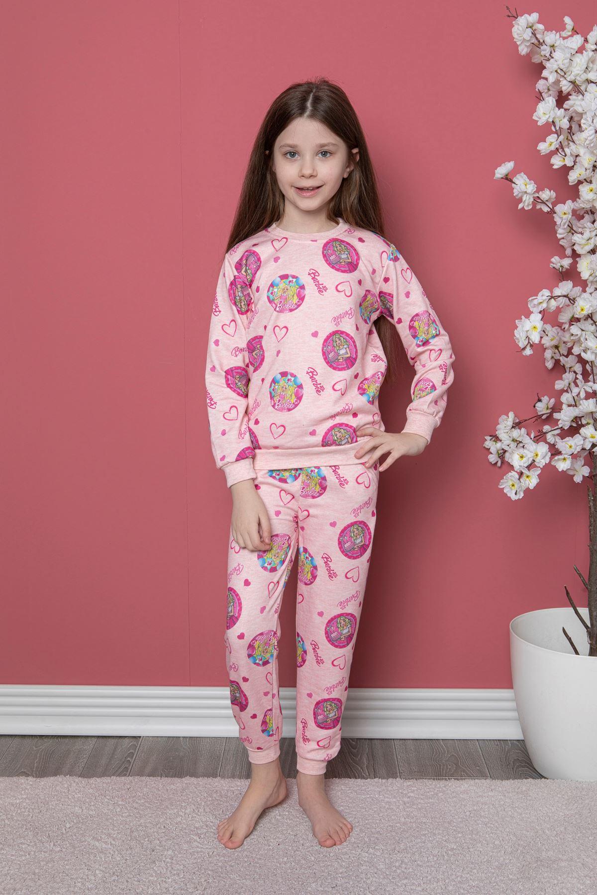 Barbie Baskı Pijama Takım