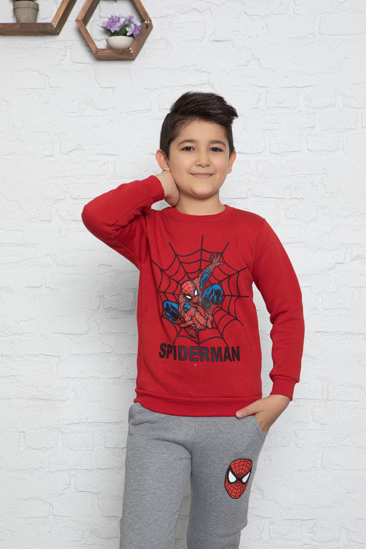 Örümcek Adam Baskılı Çocuk Eşofman Takım