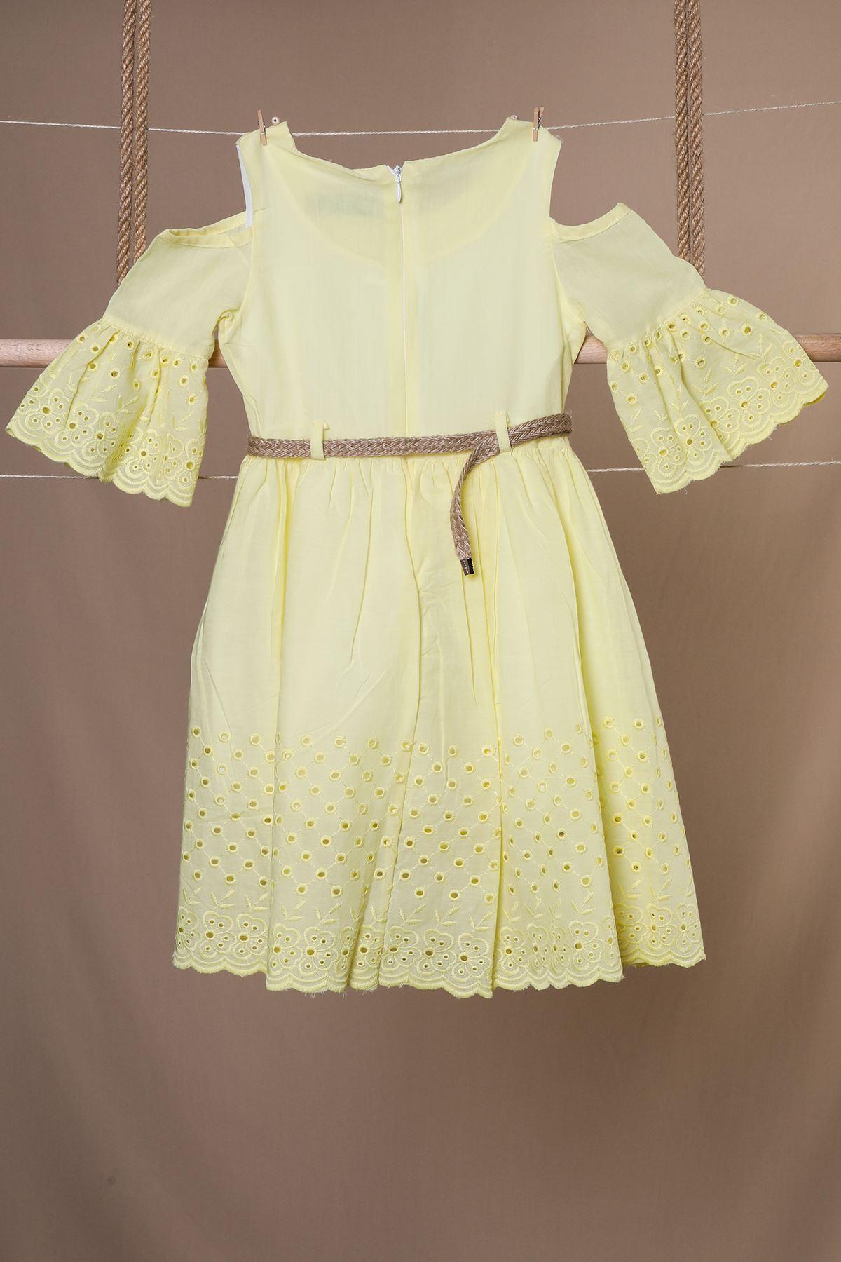Omuz Pencereli Çocuk Elbise