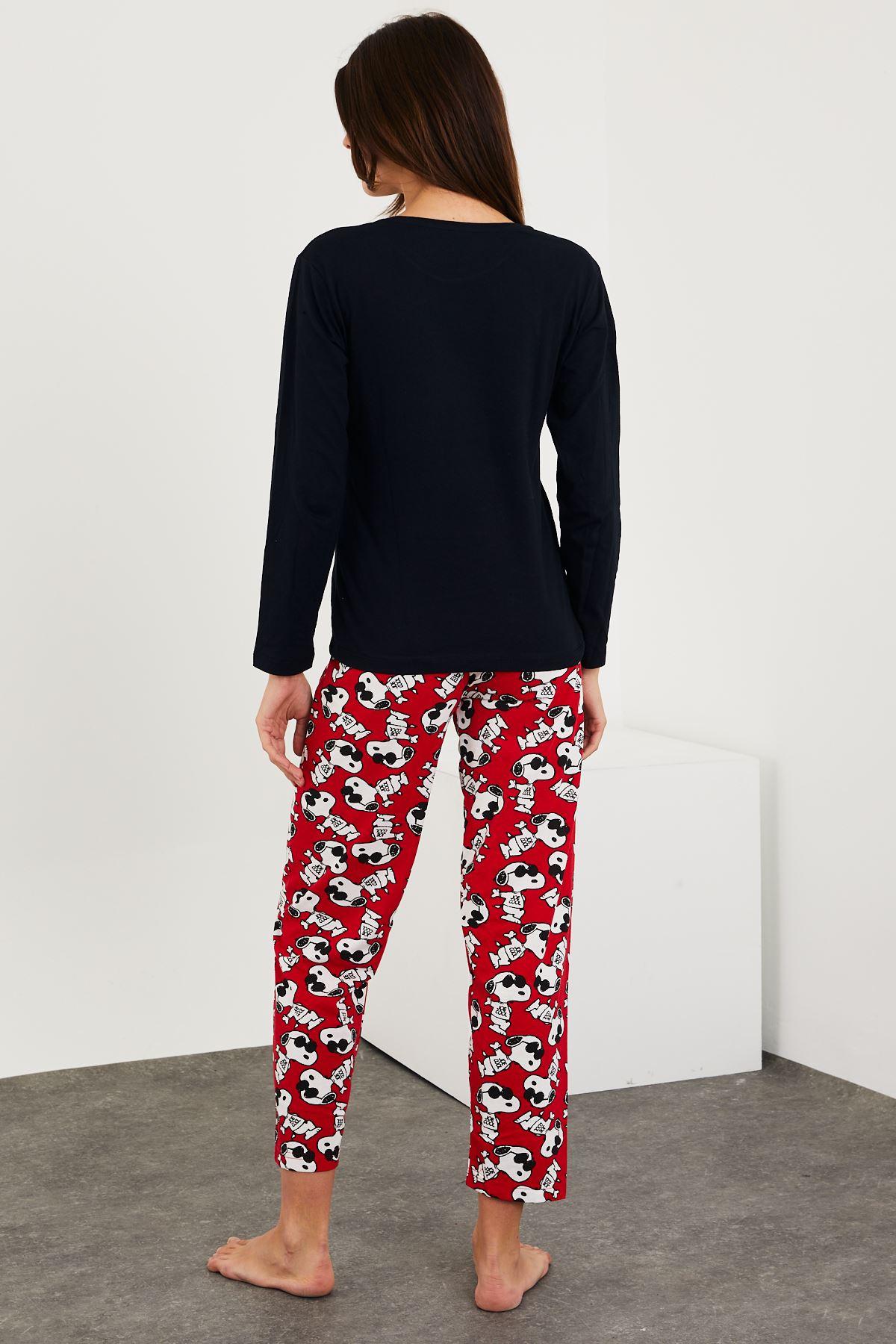 Baskılı Uzun Kol Pijama Takım