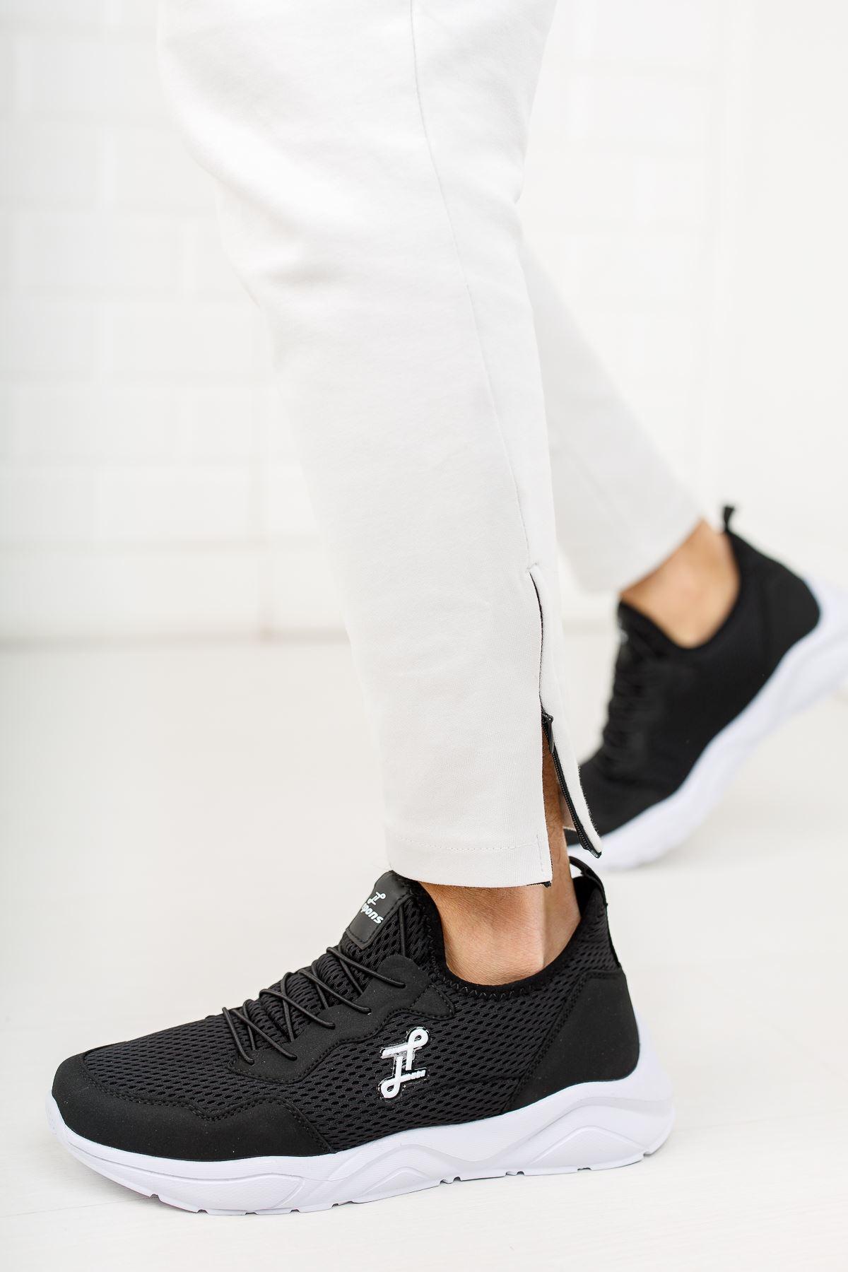 Lastikli Fileli Spor Ayakkabı