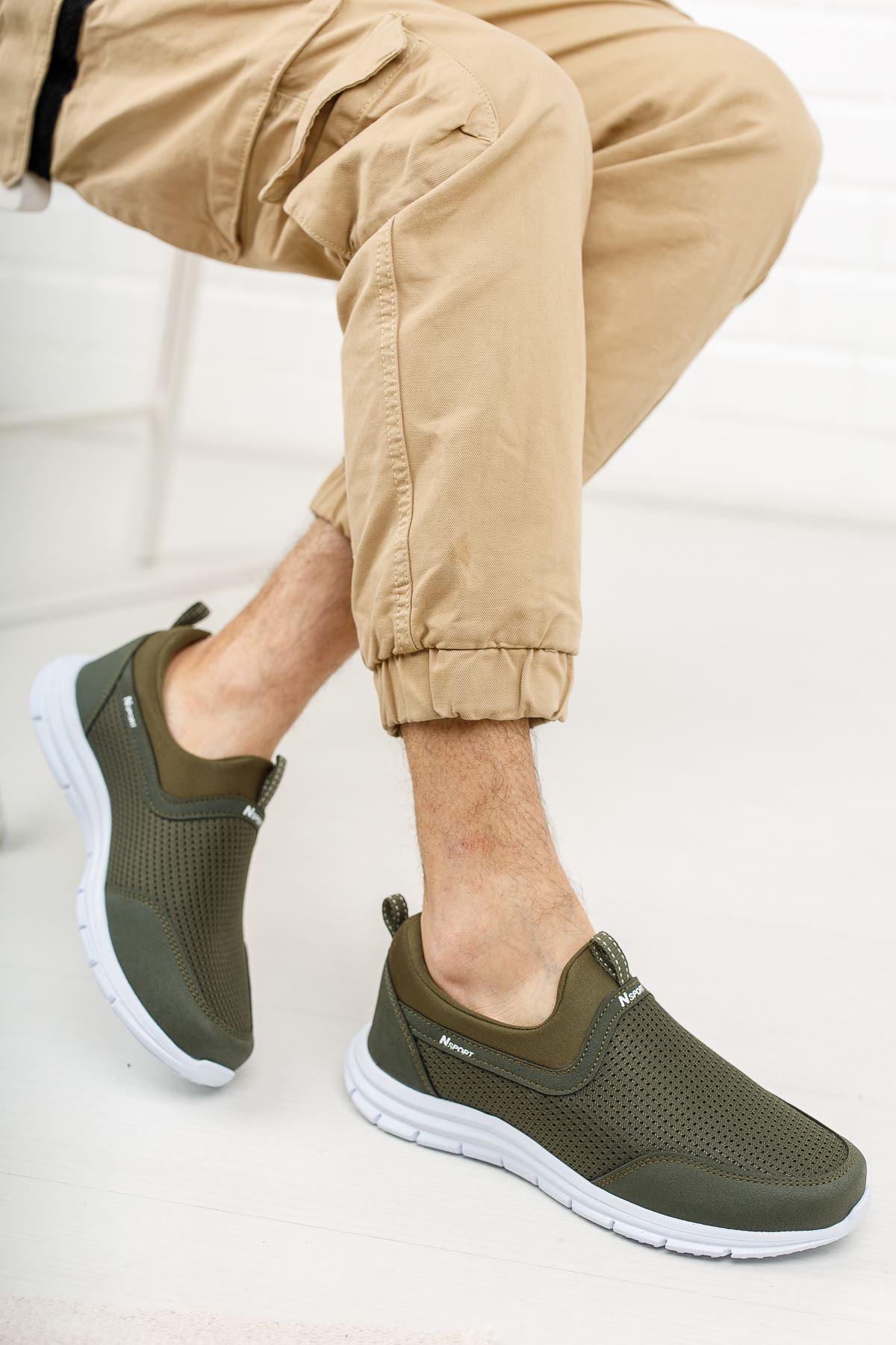 Fileli Haki Spor Ayakkabı