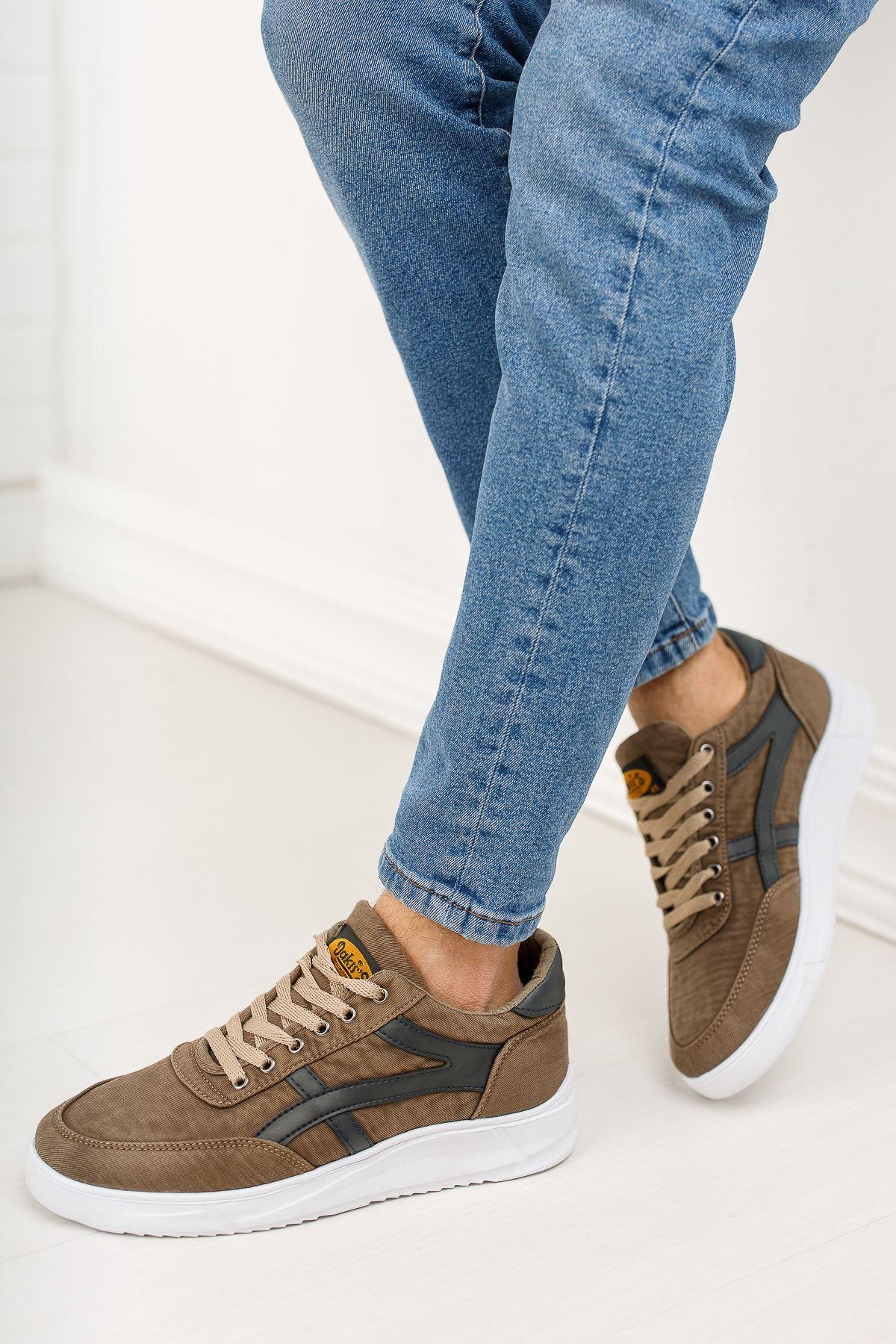 Bağcıklı Vizon Spor Ayakkabı