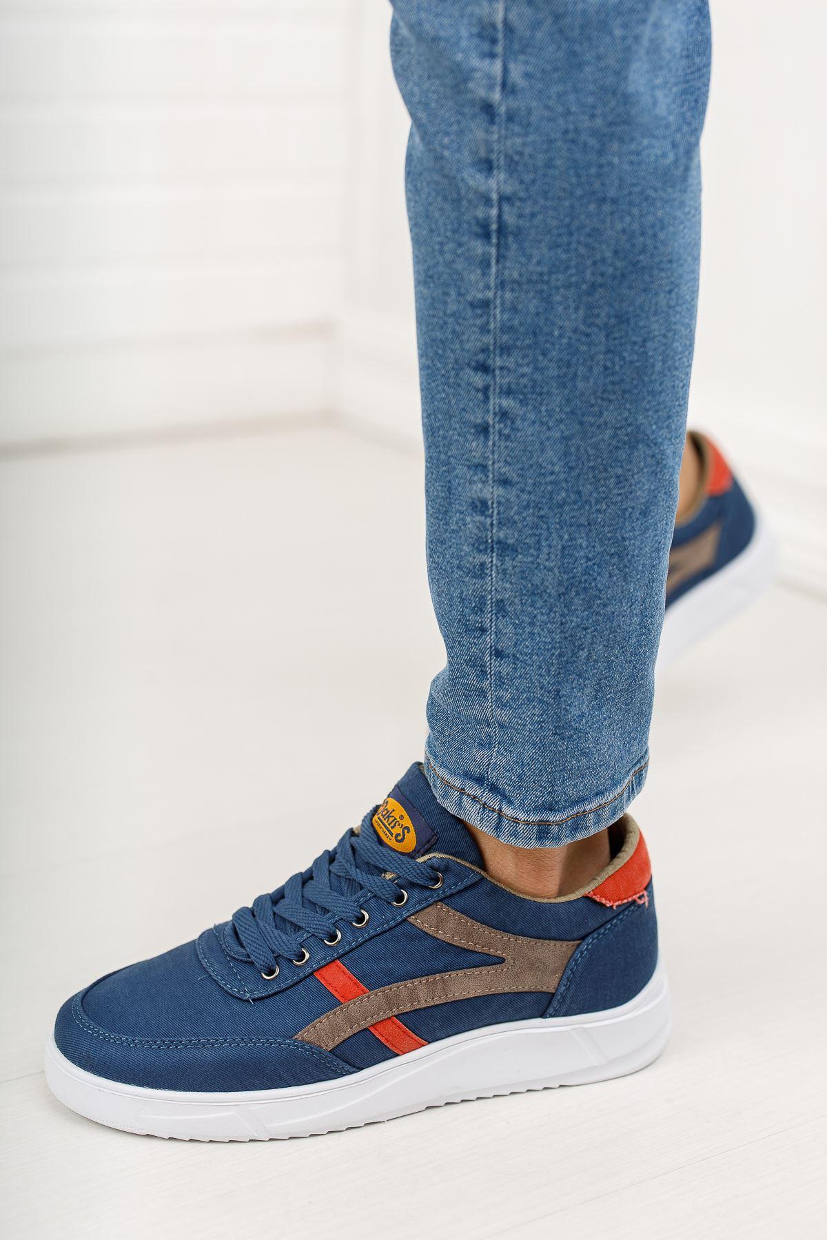 Bağcıklı Lacivert Spor Ayakkabı