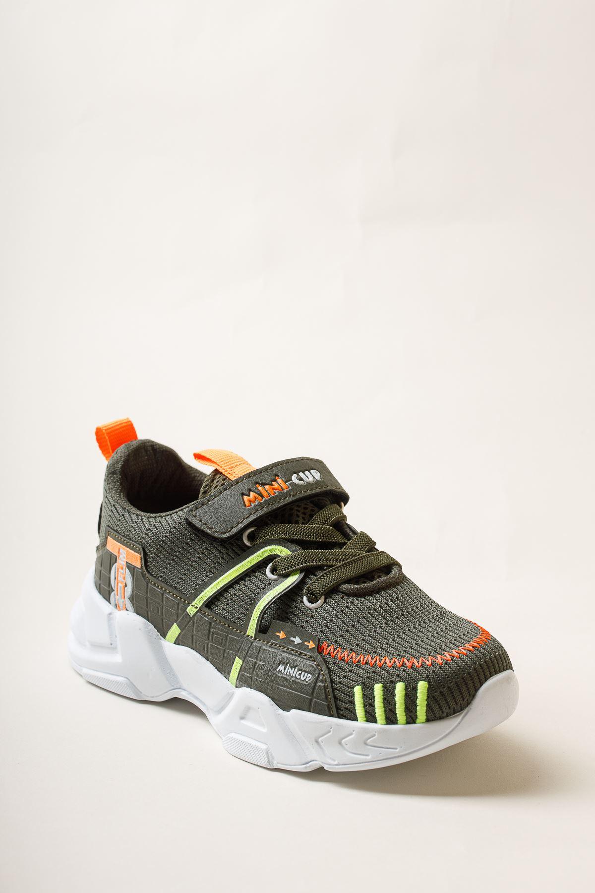 Cırtlı Haki Spor Ayakkabı