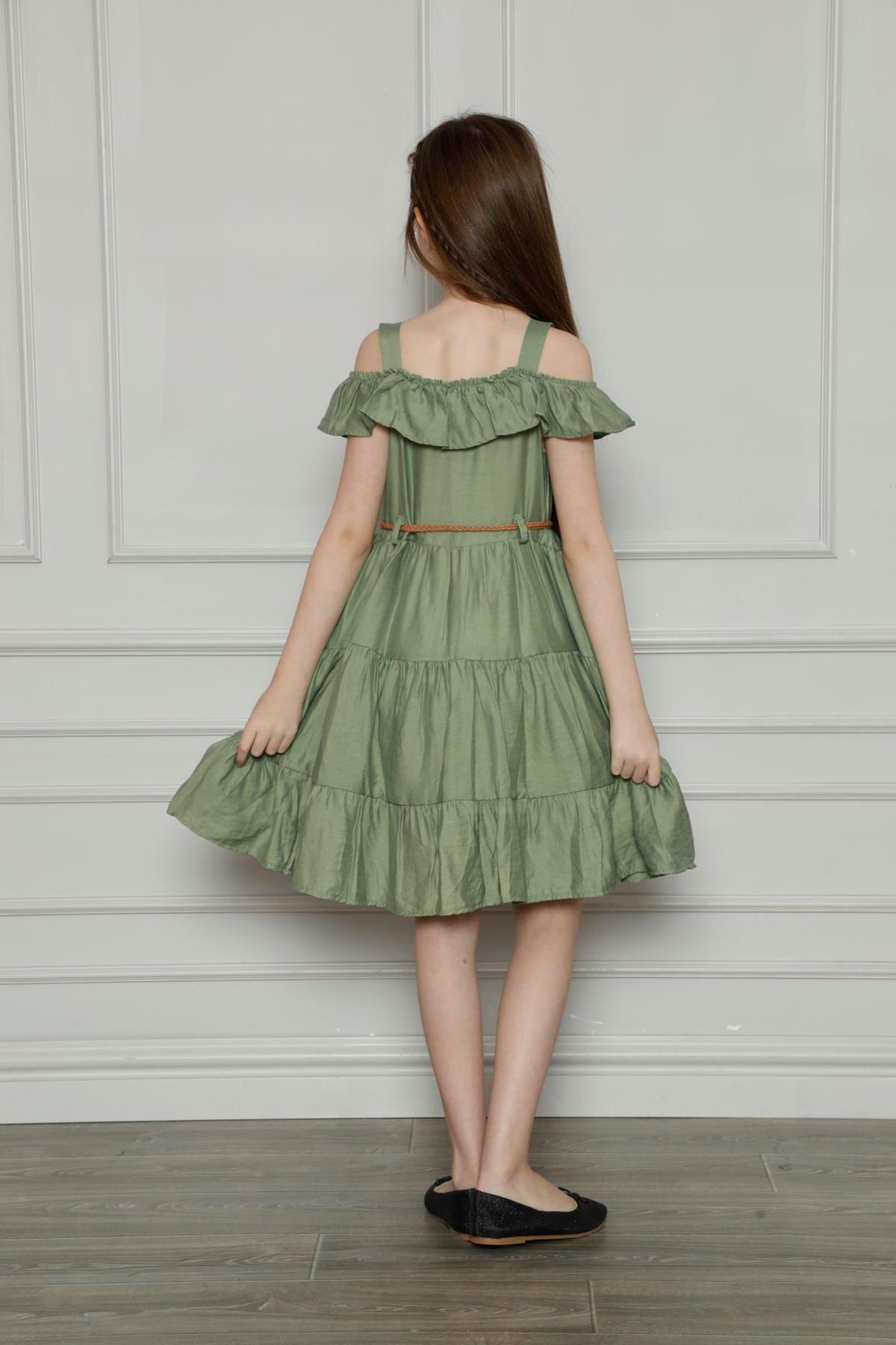 Askılı Omuz Detaylı Elbise
