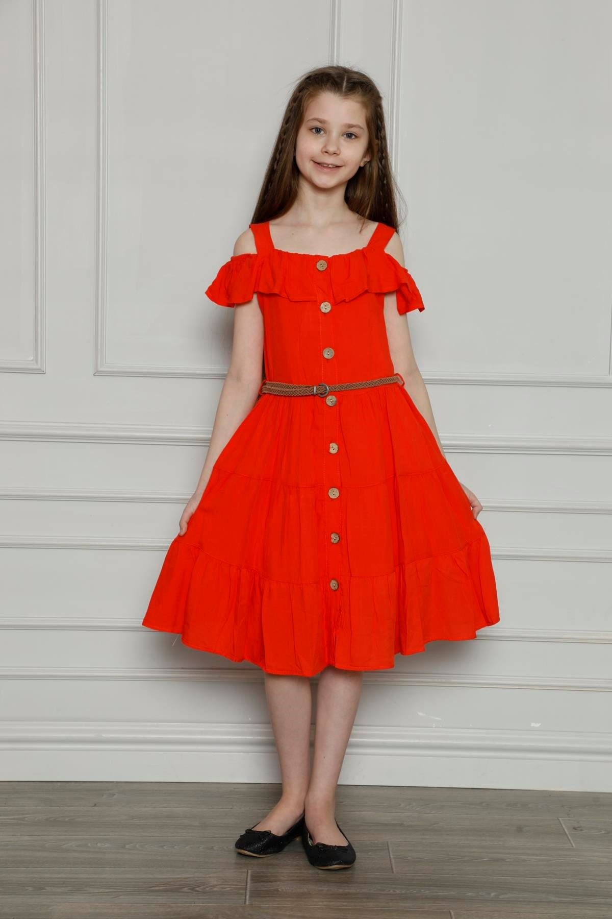 Önden Düğmeli Elbise