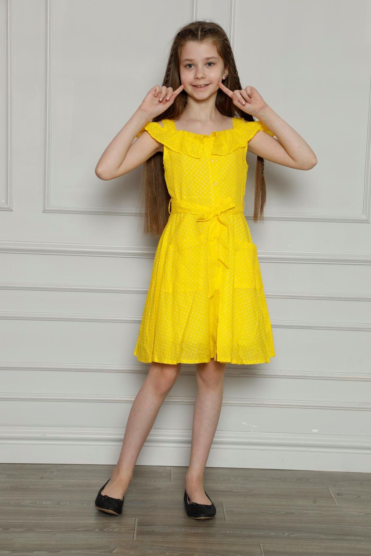 Puanlı Cepli Elbise