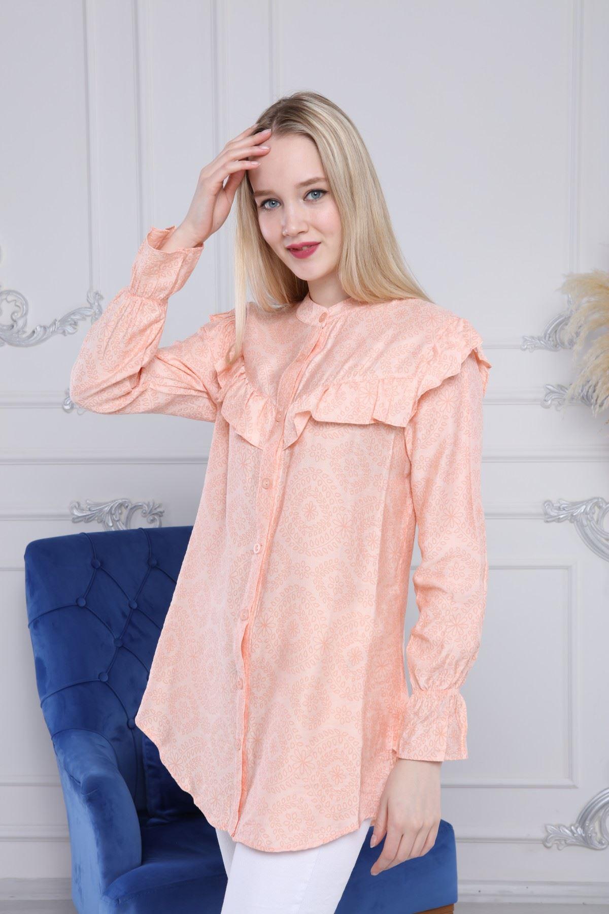 Volanlı Gömlek Tunik