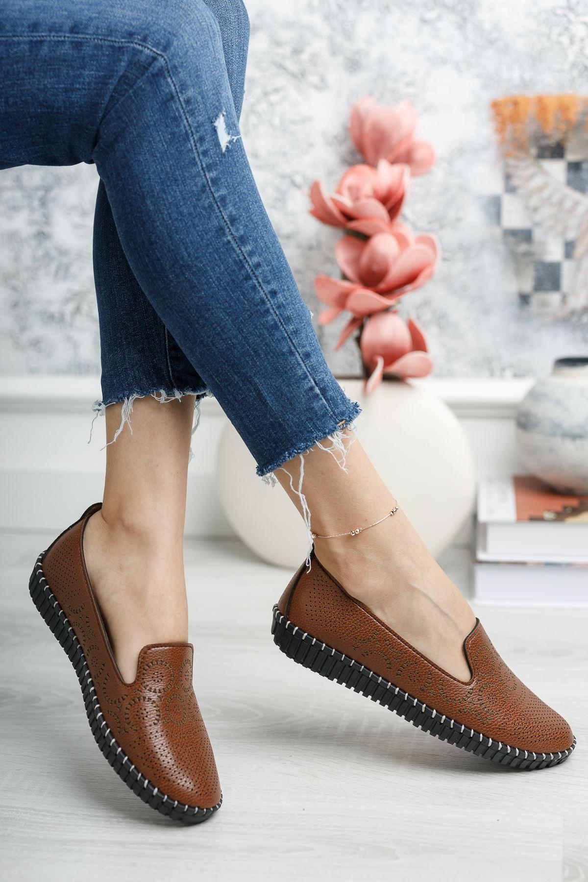 Ortapedik Pedli Taba Ayakkabı