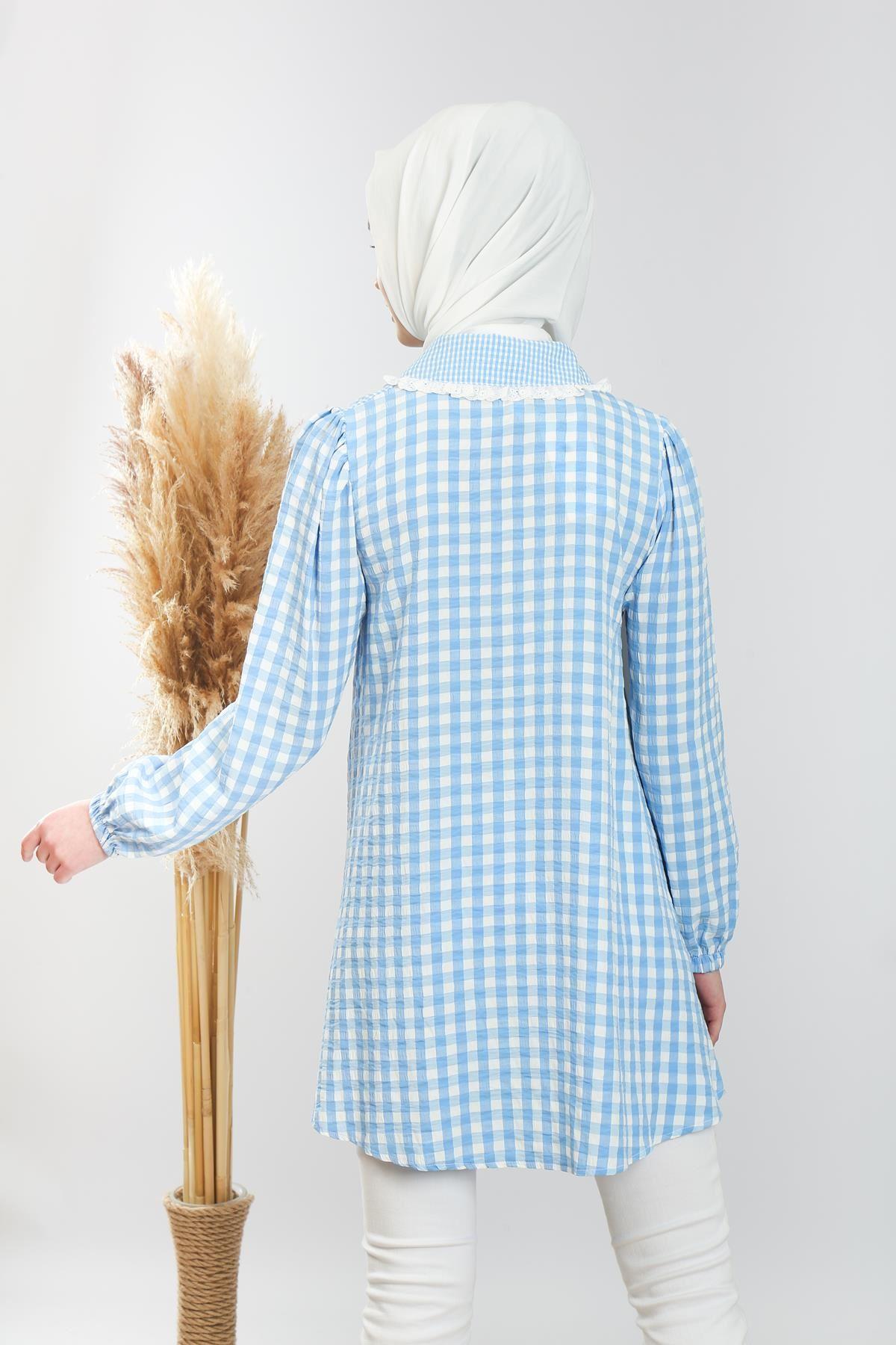 Kol Lastikli Gömlek Tunik