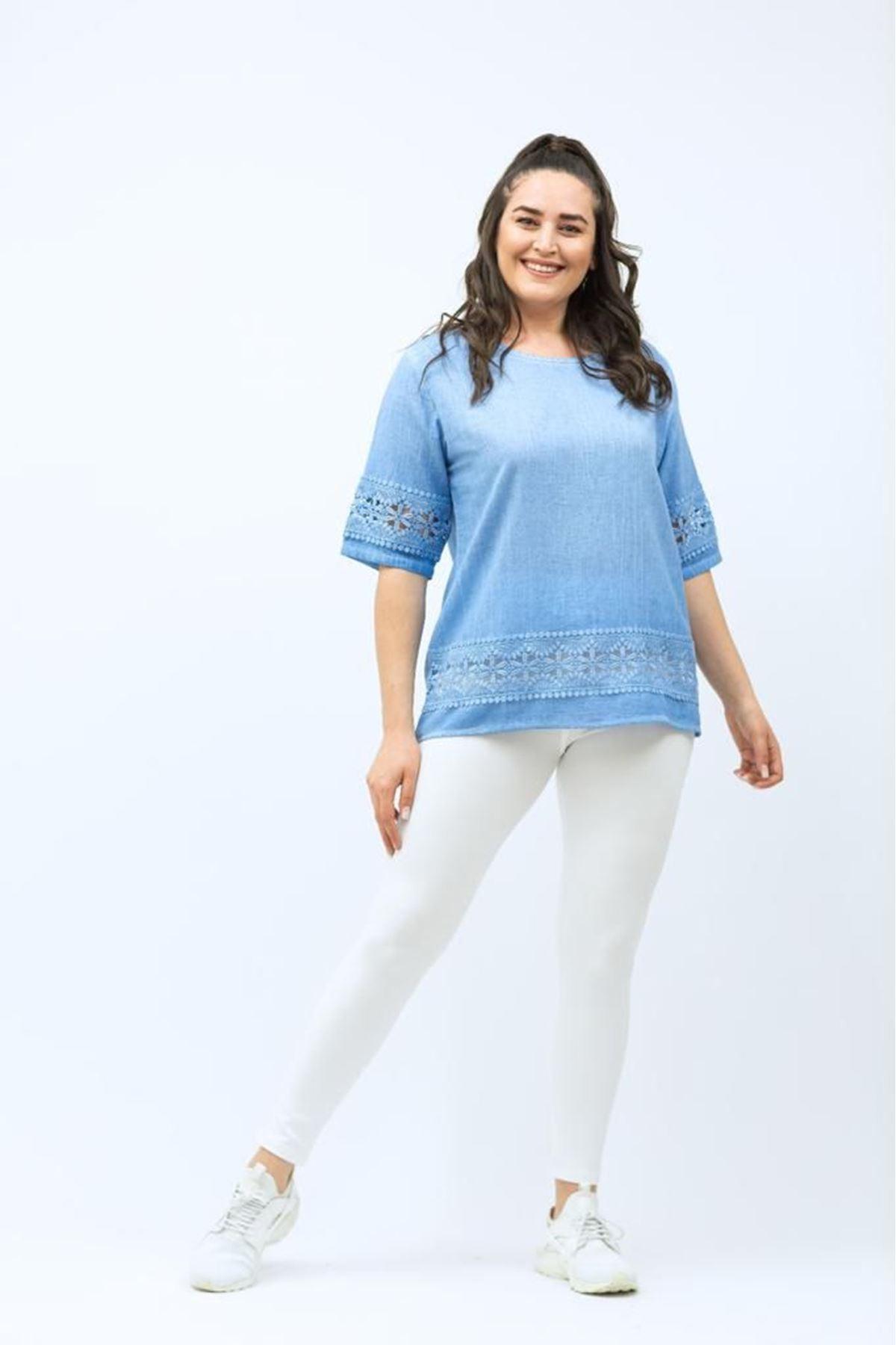 Dantelli Kadın Bluz